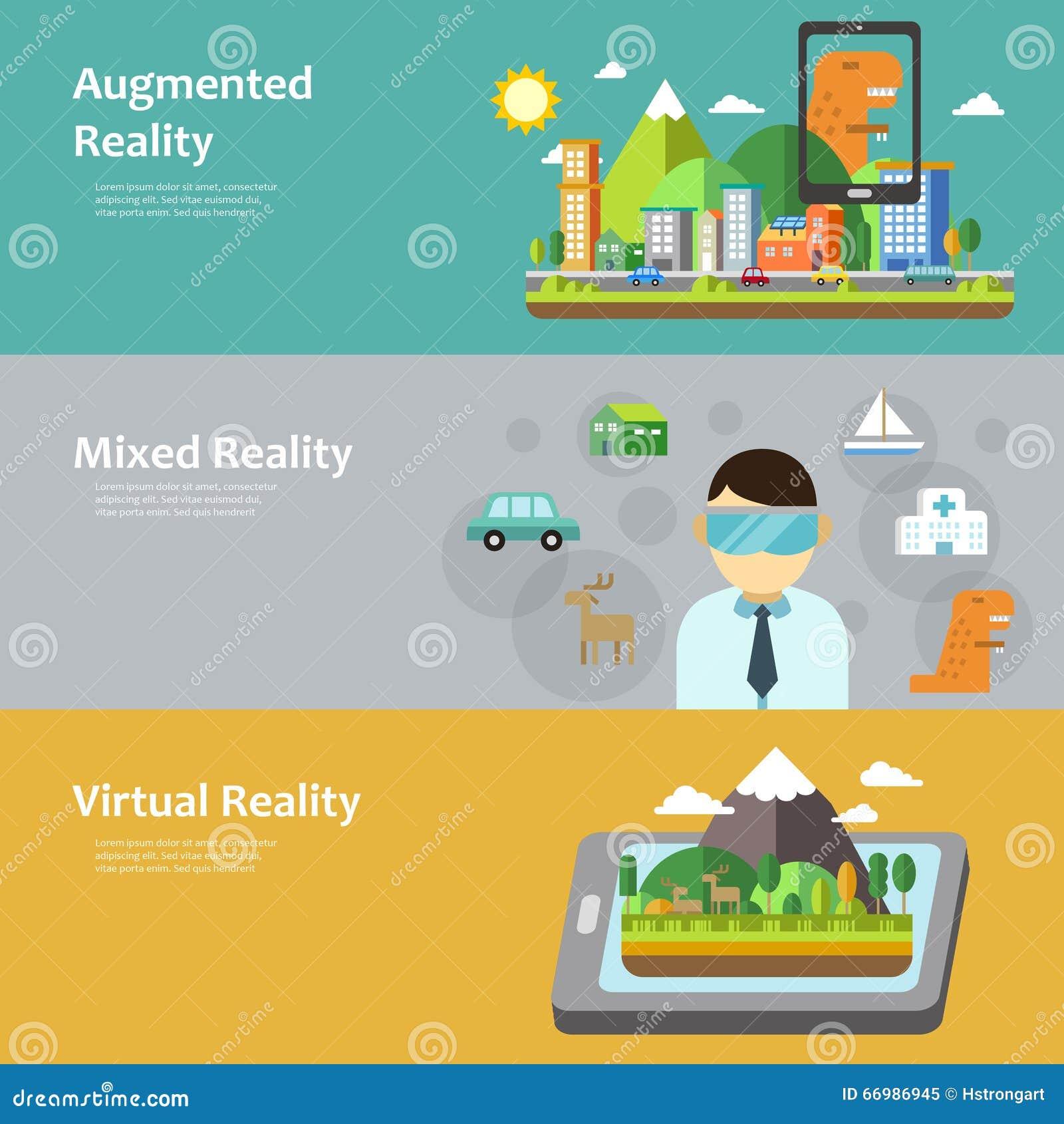 c3f38bf9c6 Virtual Reality Concept Collection Stock Illustration - Illustration ...