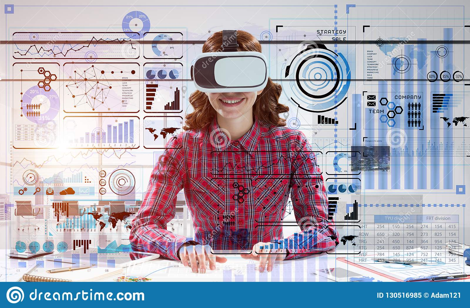 Virtual reality experience stock image  Image of concept - 130516985