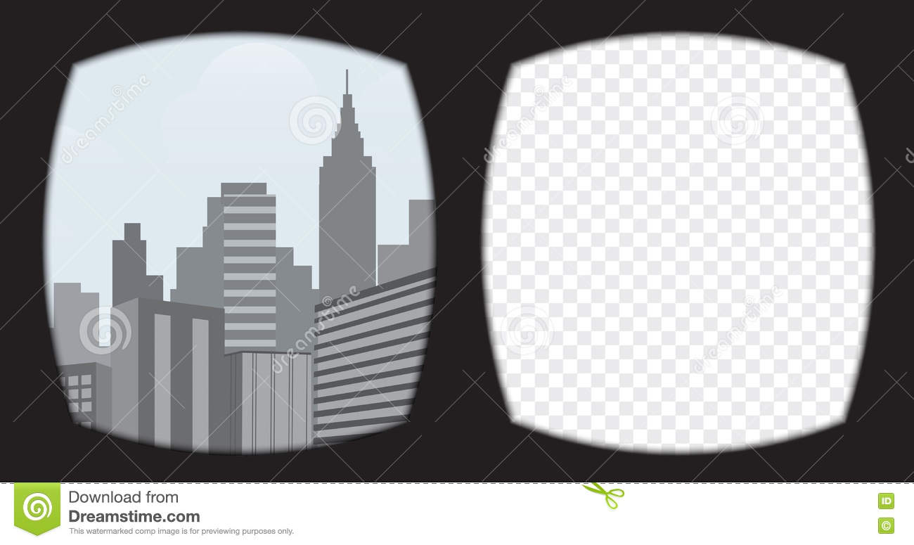 63b8babf7e Virtual Reality Glasses Overlay On The Transparent Background. Stock ...