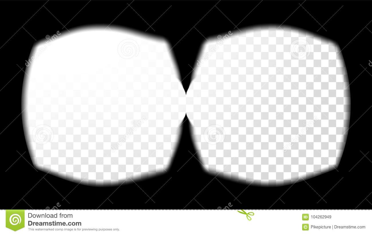 9297f0758f Virtual Reality Glasses Sight View Vector. Stereoscopic Screen Frame  Template. Technology Design 3D VR
