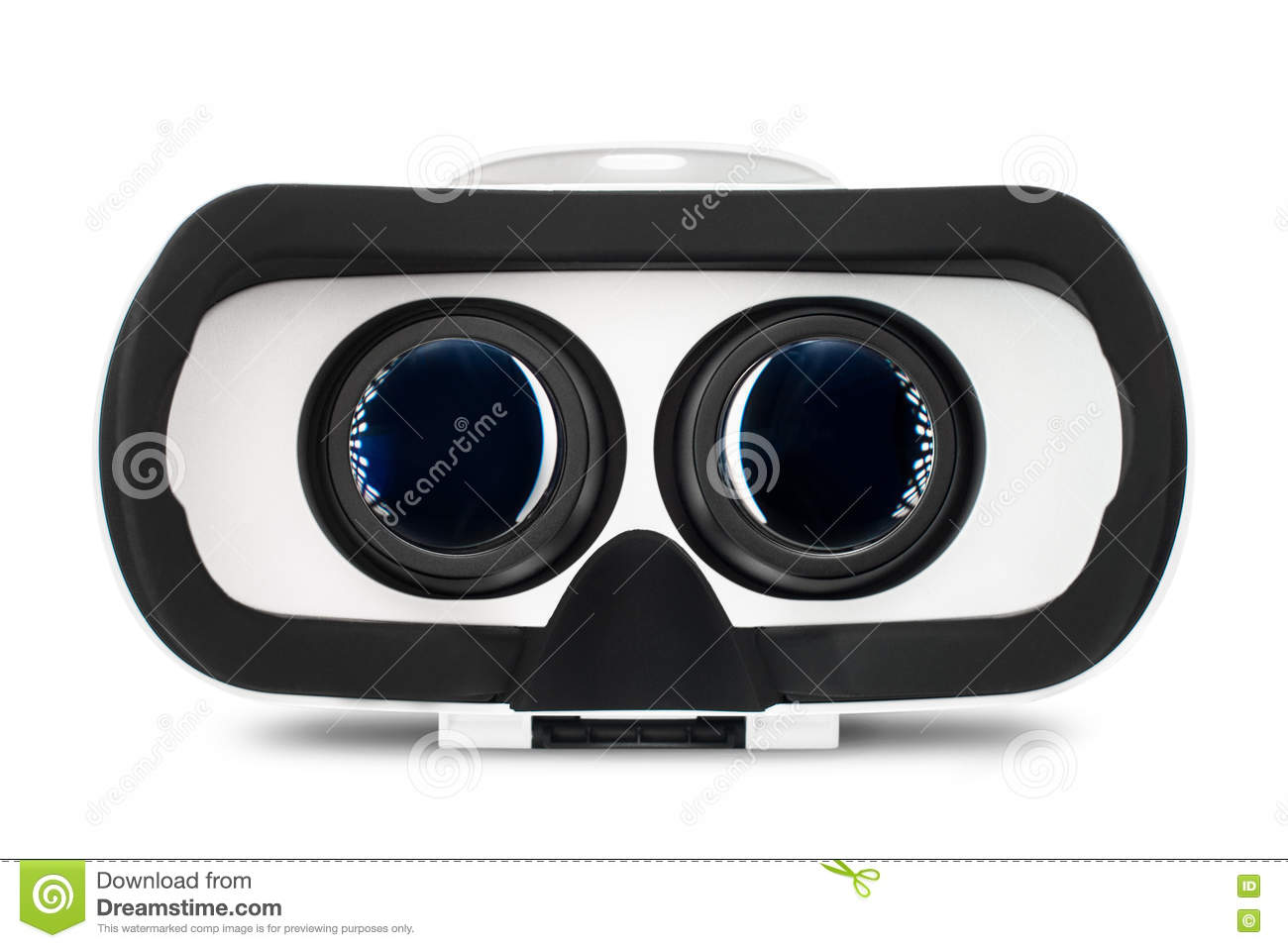 virtual reality vr glasses or goggles isolated on white background royalty free stock. Black Bedroom Furniture Sets. Home Design Ideas