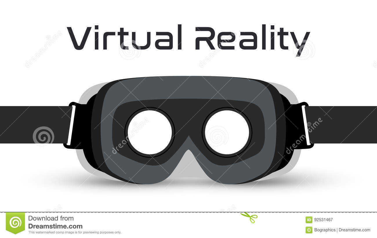 Virtual Reality Goggles VR Headset Vector