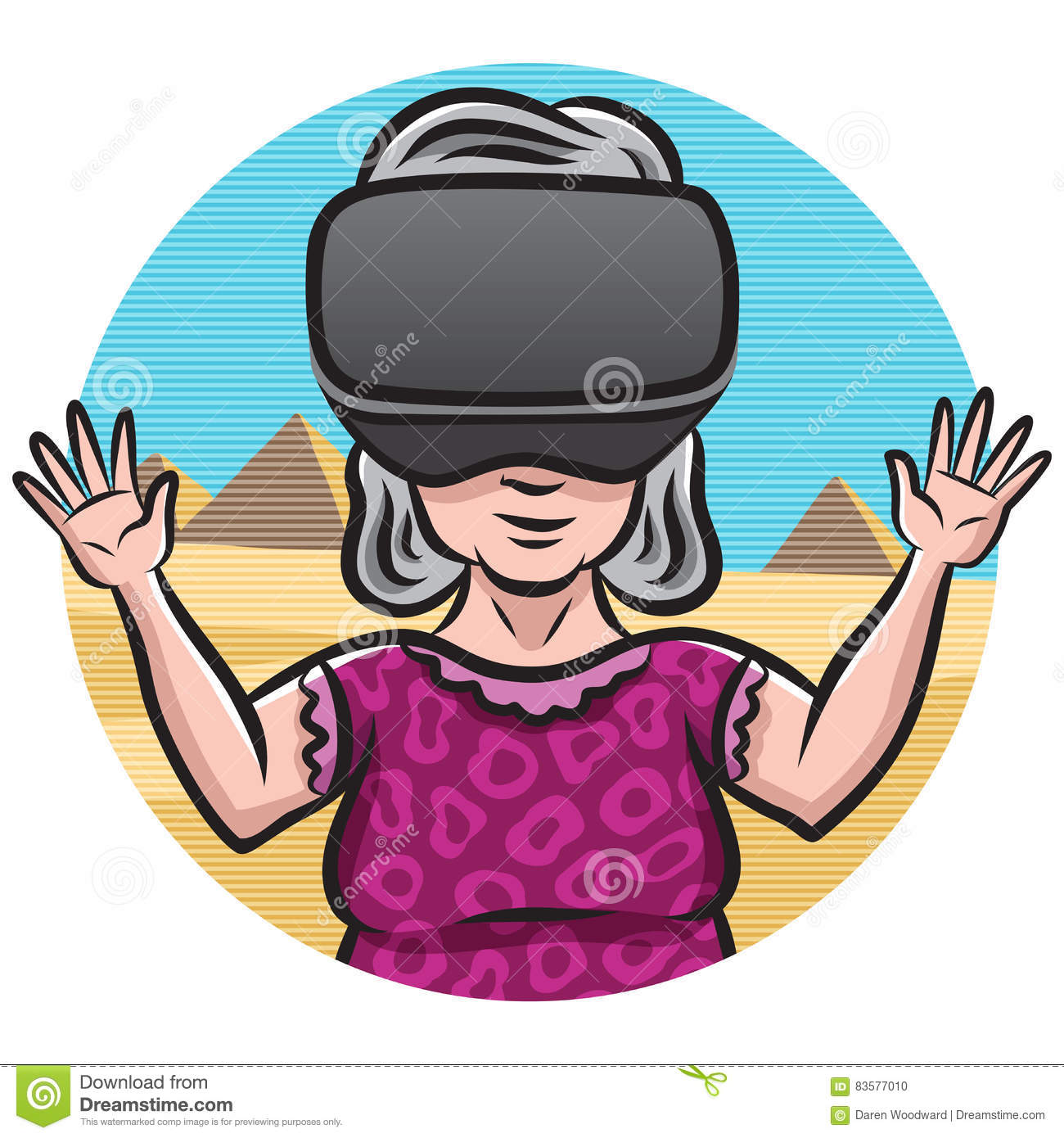 Humping Granny Best virtual reality granny stock illustration. image of experience