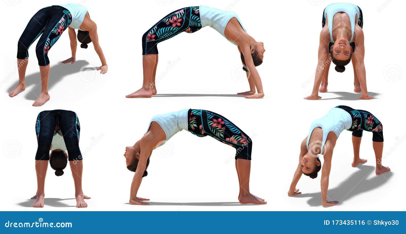 Yoga Wheel Pose Stock Illustrations – 50 Yoga Wheel Pose Stock ...
