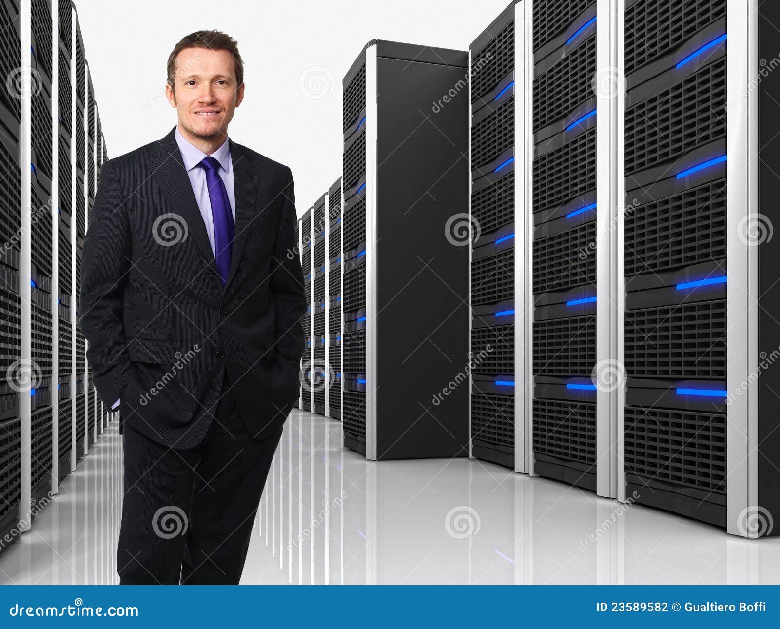 Virtuele 3d server en mens