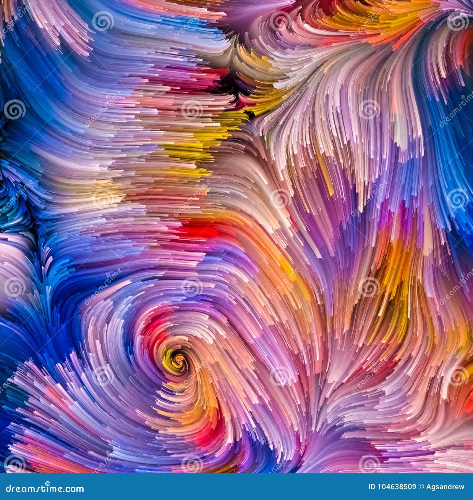 Virtuele Vloeibare Kleur