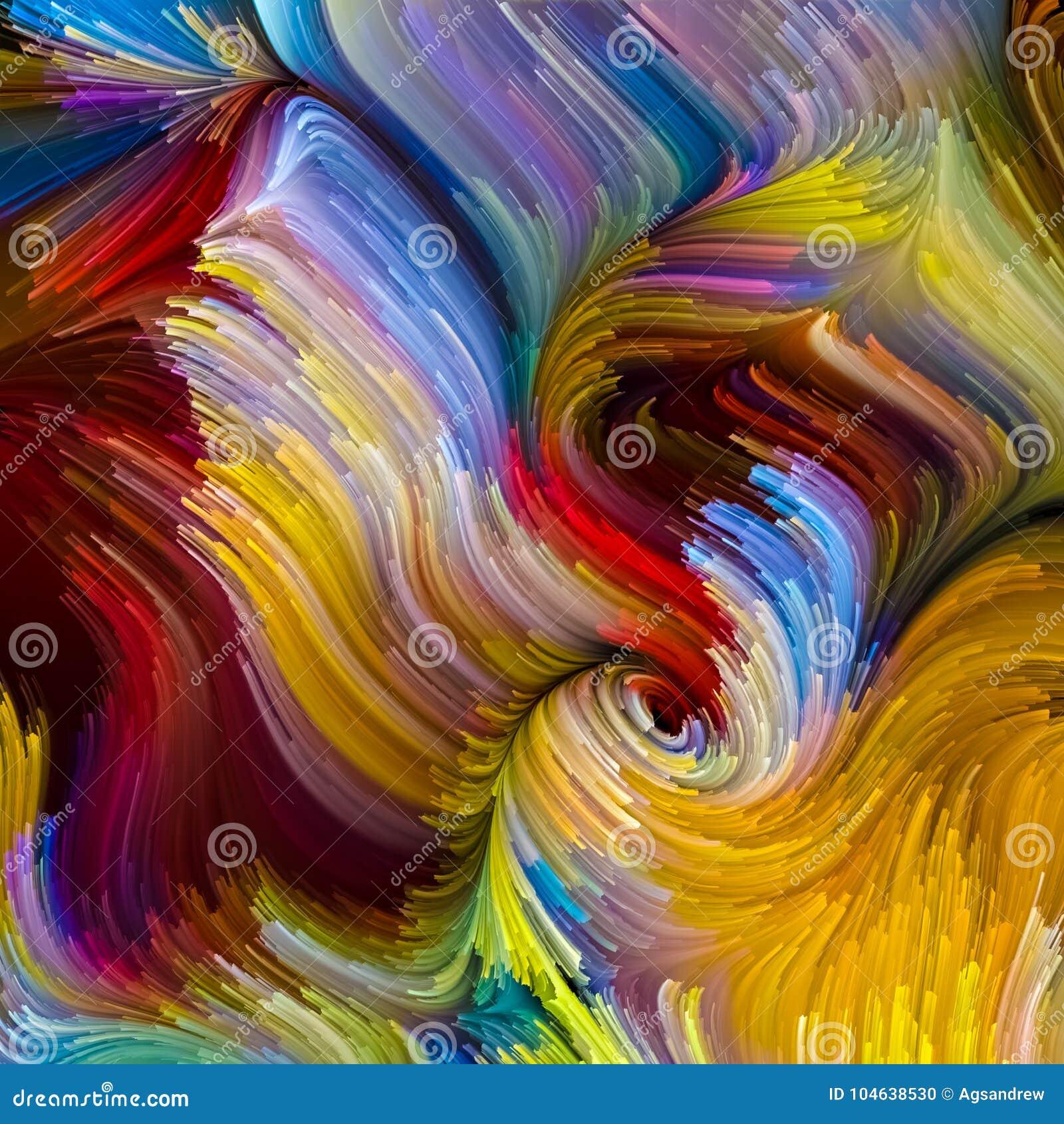Download Virtuele Vloeibare Kleur stock illustratie. Illustratie bestaande uit painting - 104638530