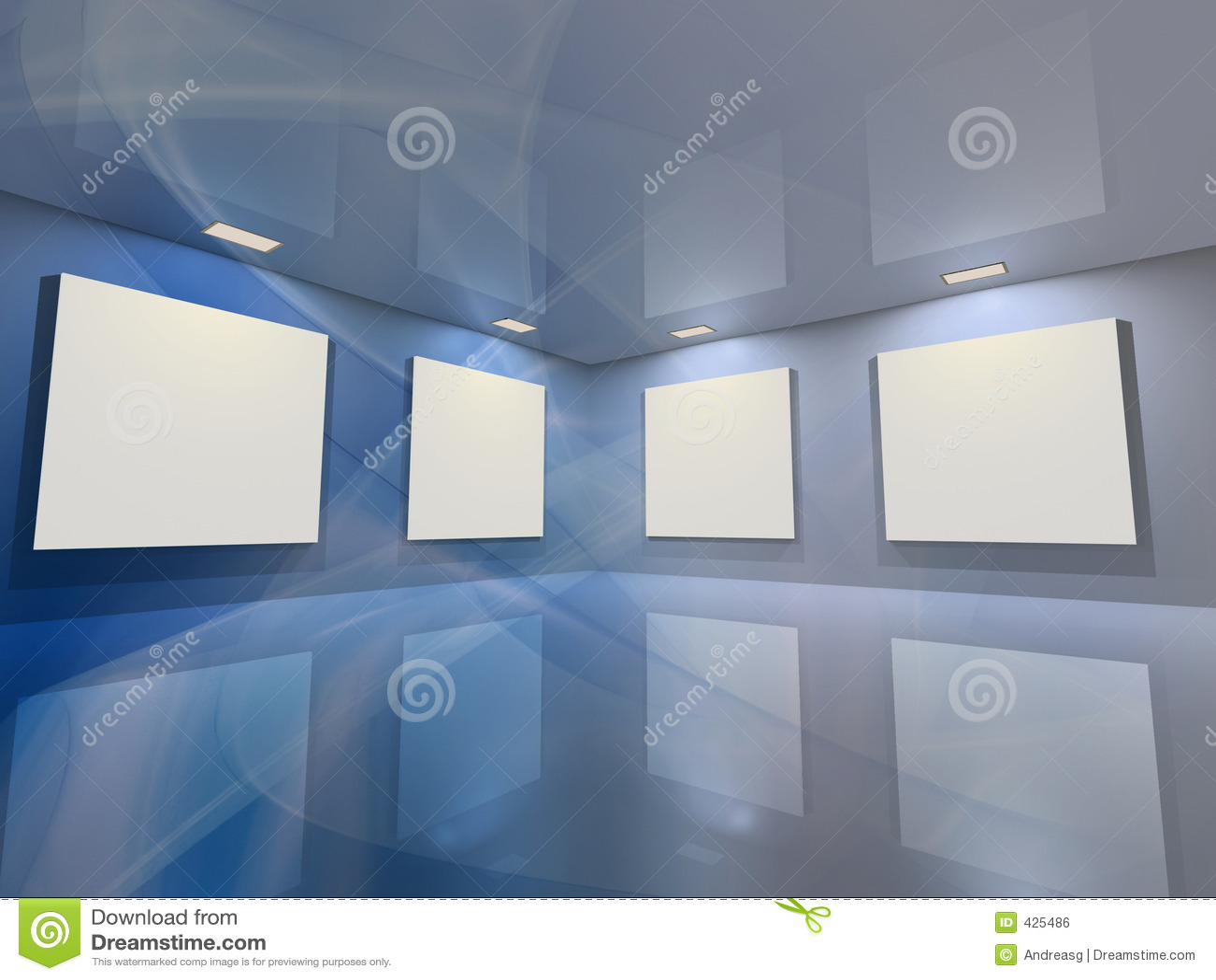 Virtuelle Galerie - Blau