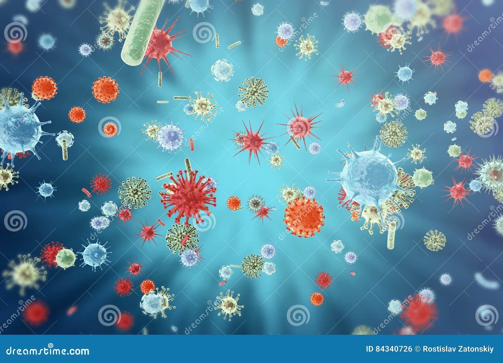 Virus de gripe H1N1 La gripe de cerdos, infecta el organismo, epidemia viral de la enfermedad representación 3d
