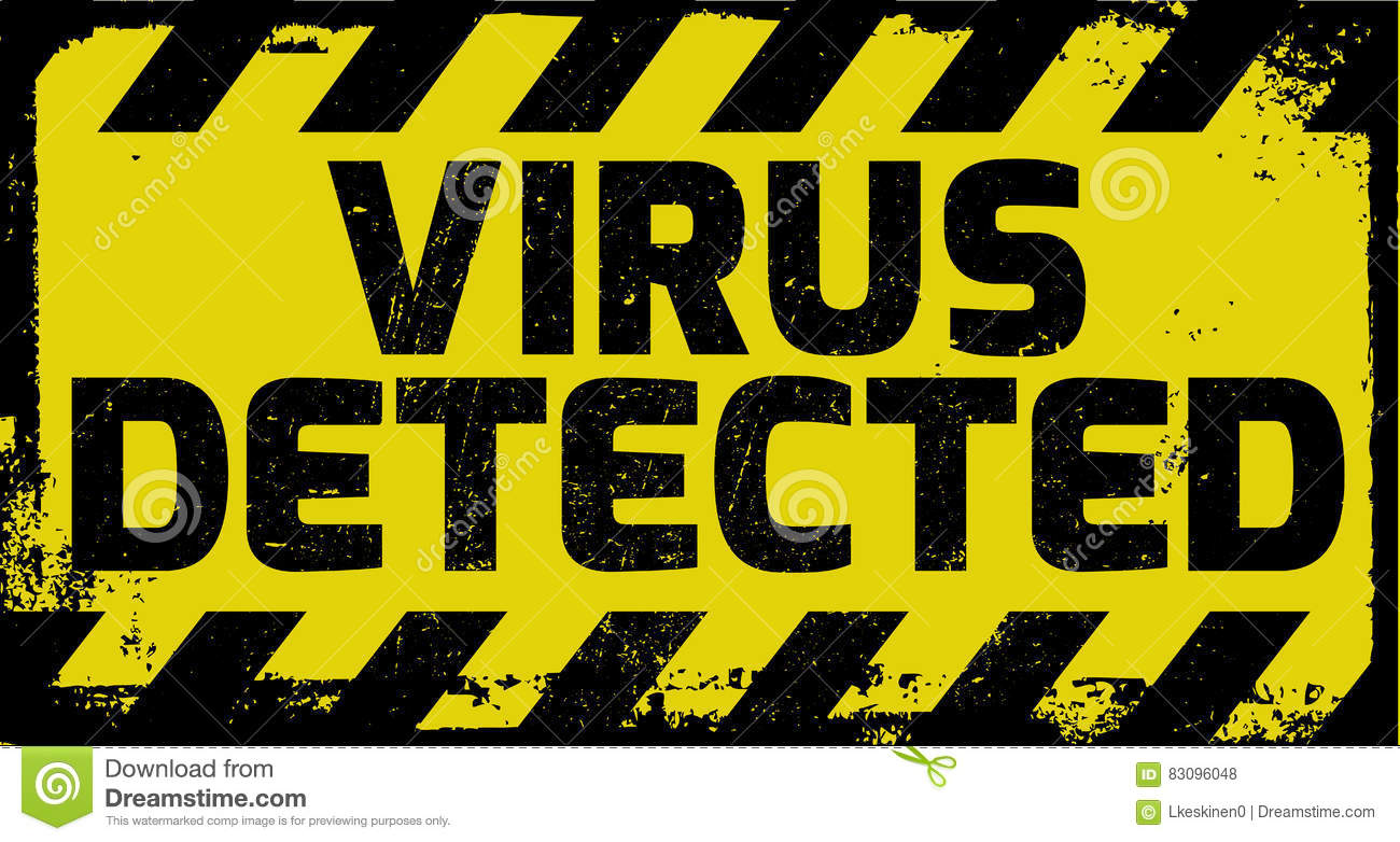 Virus Detected Yellow Warning Stock Vector - Image: 83096048