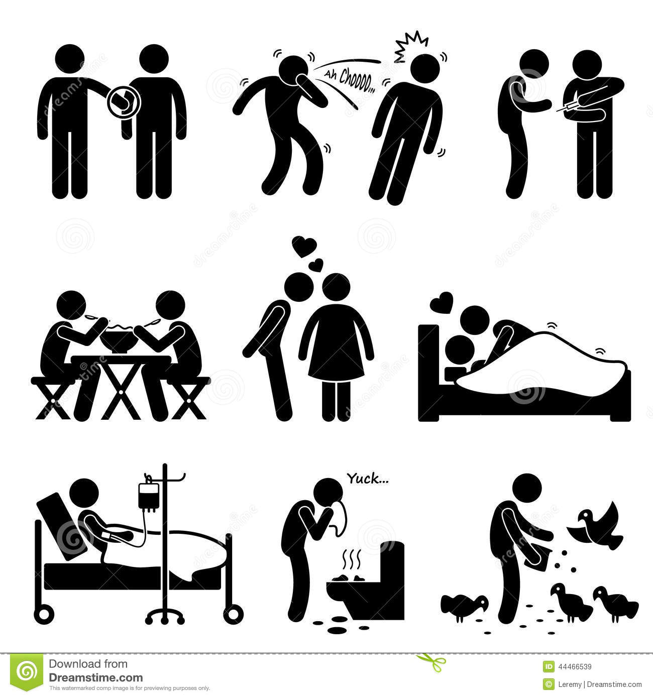 Sexually transmitted disease clipart people