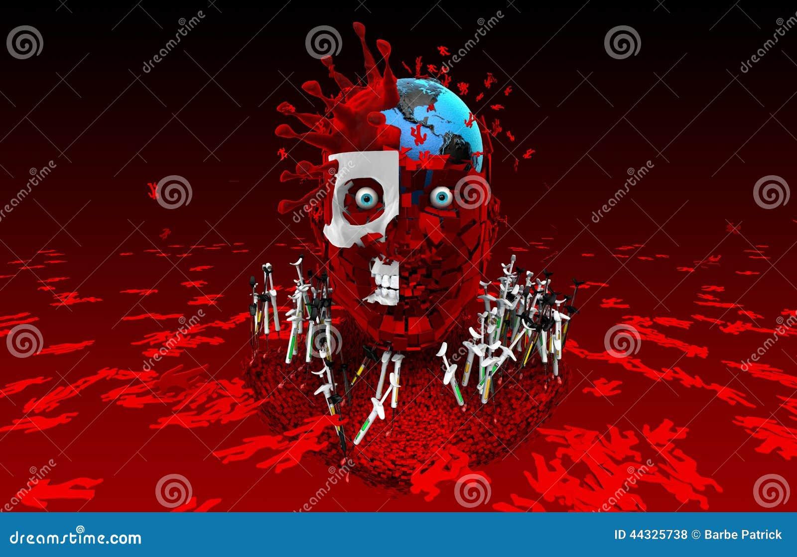 Virusbytemänsklighet Get vaccinerade Kamp mot viruset