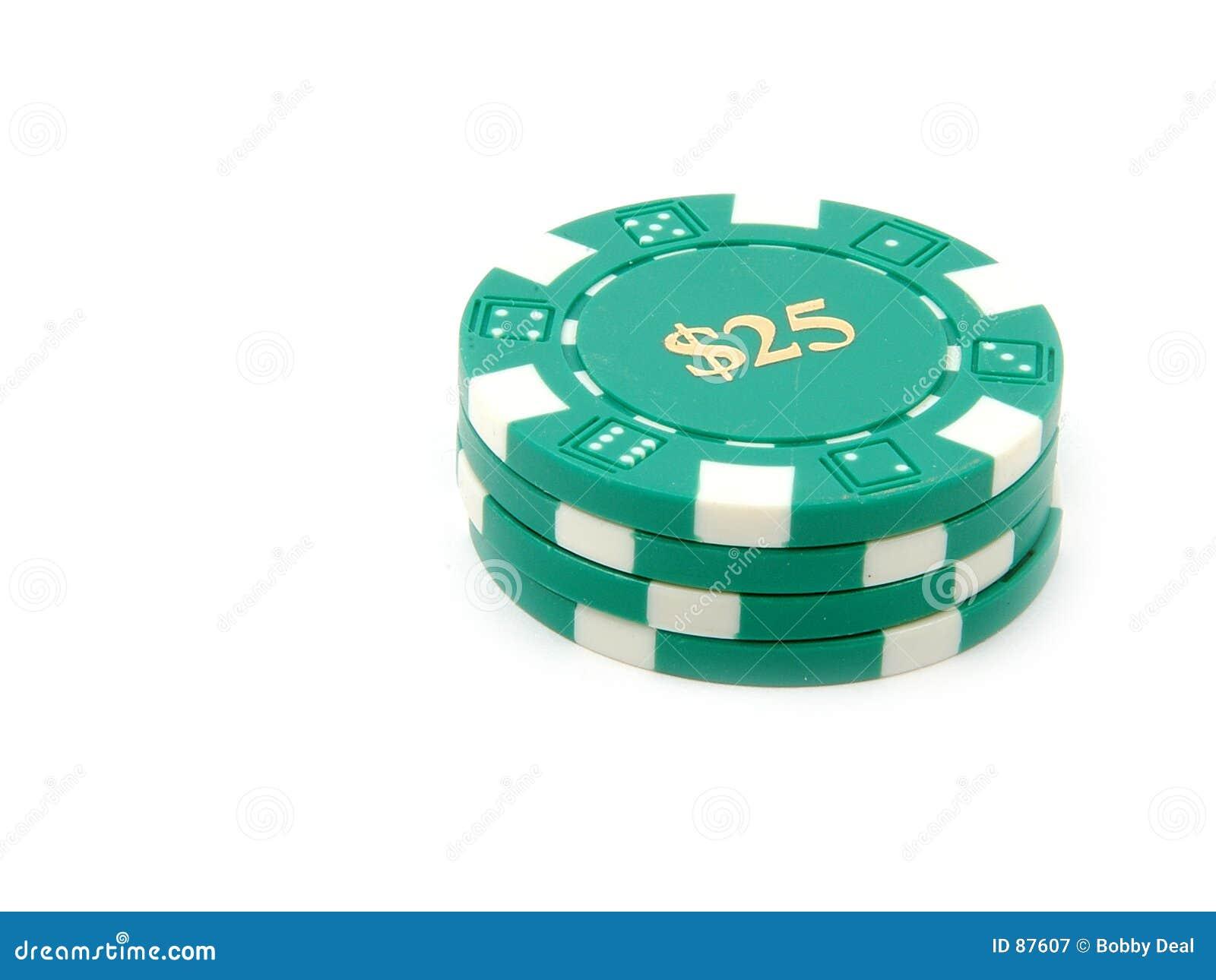 Virutas $25 del casino.