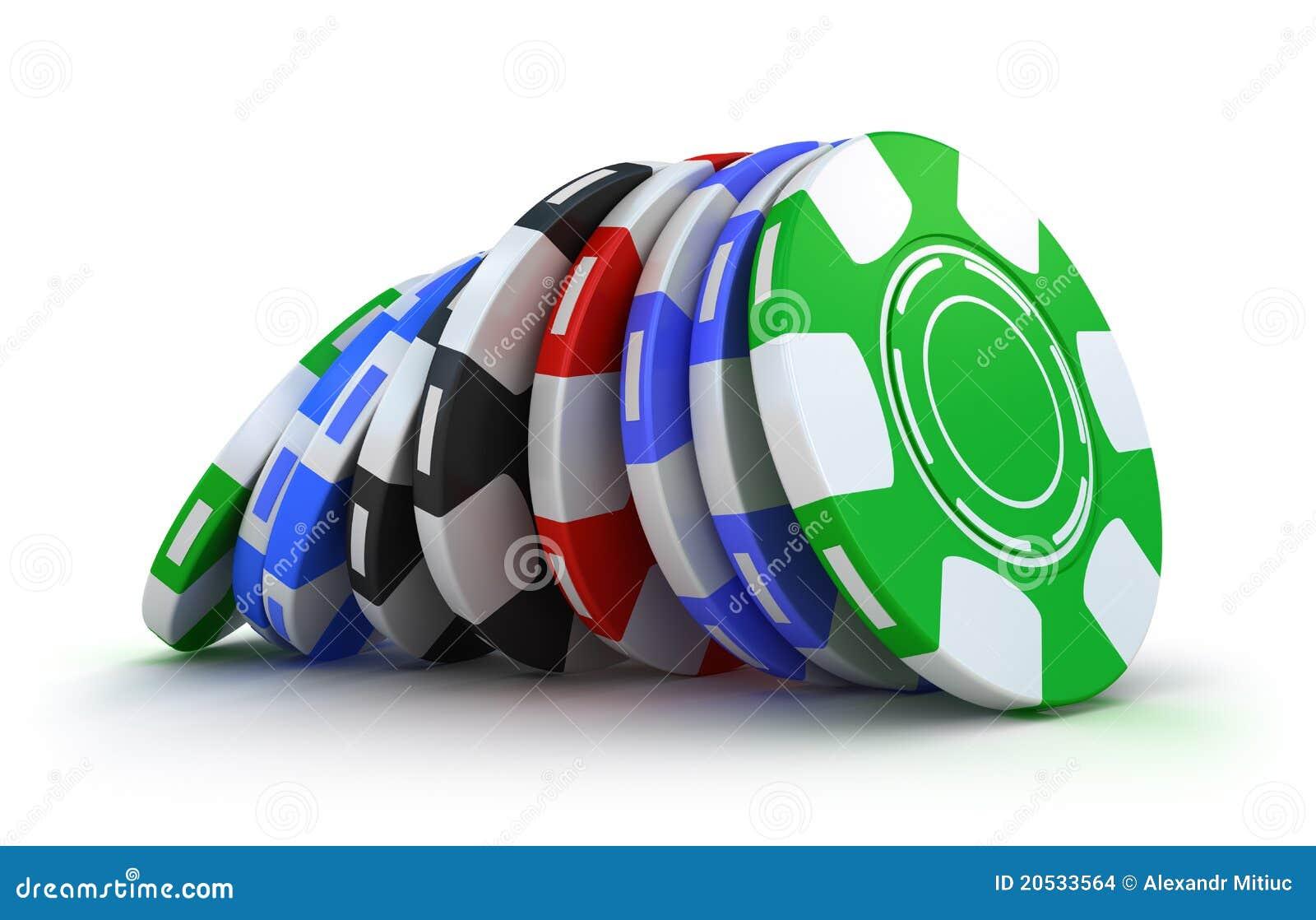 Virutas de juego del casino