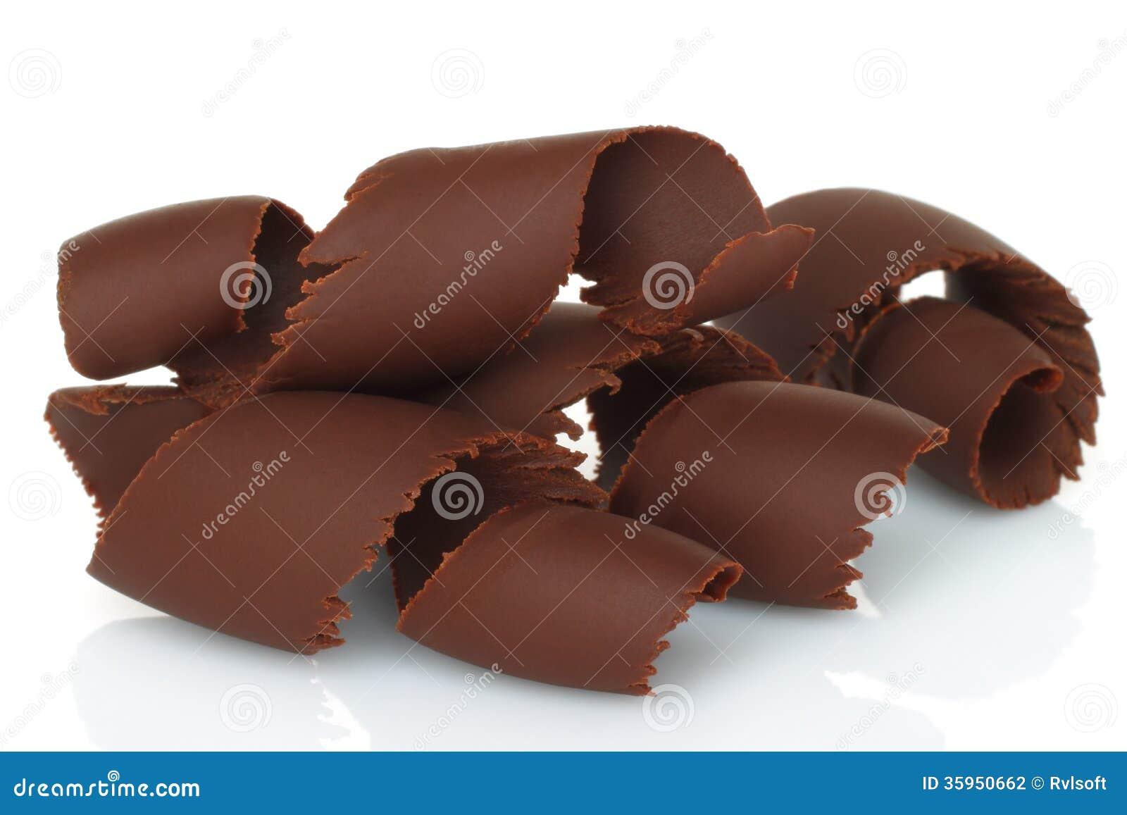 Virutas del chocolate