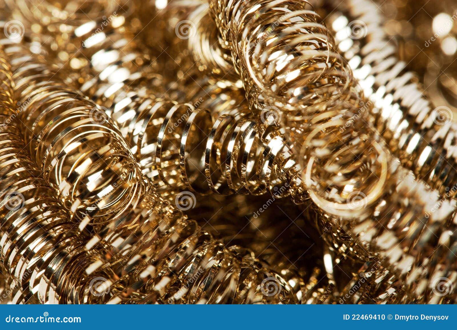 Virutas del oro del desecho
