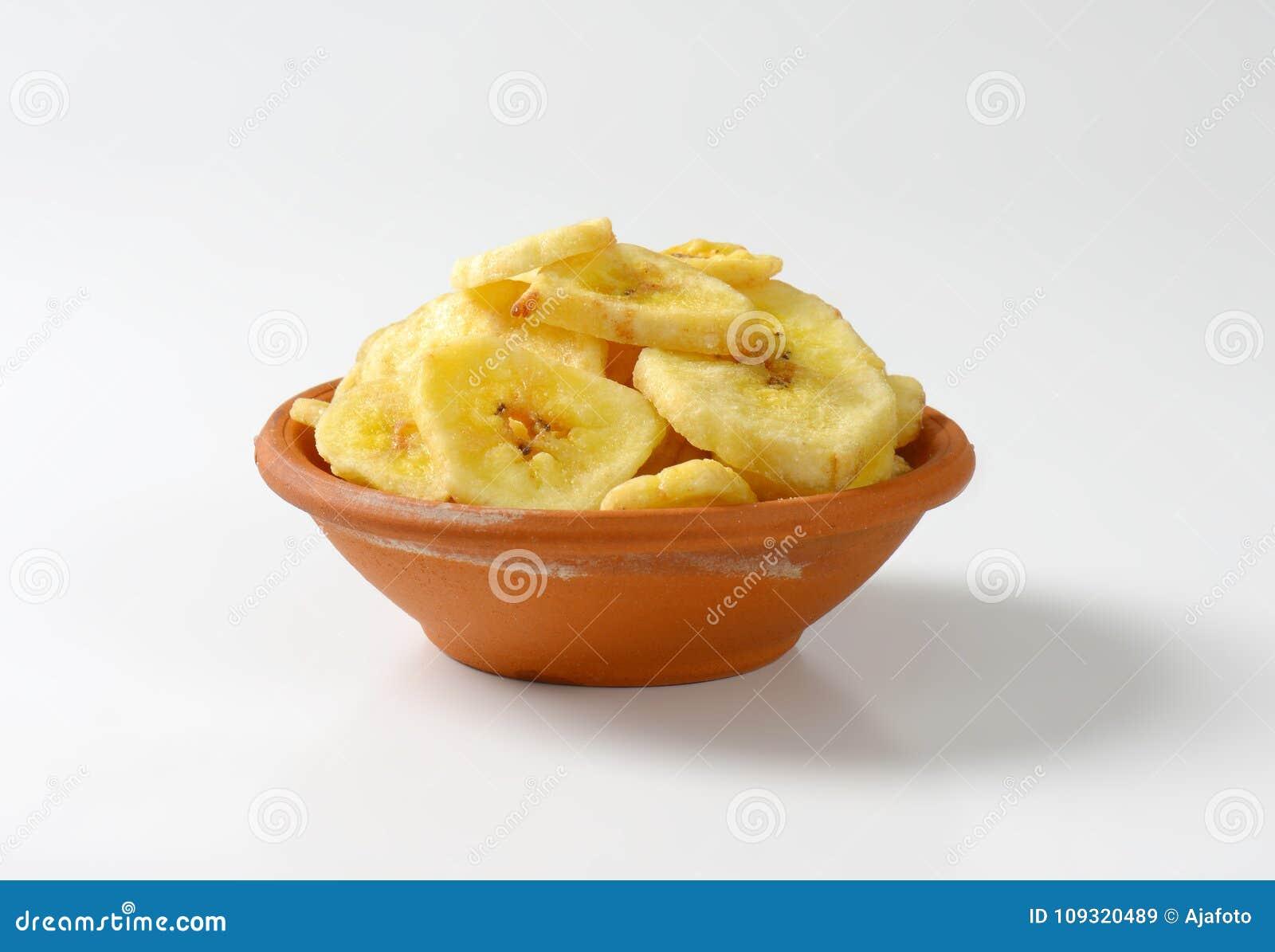 Virutas secadas del plátano