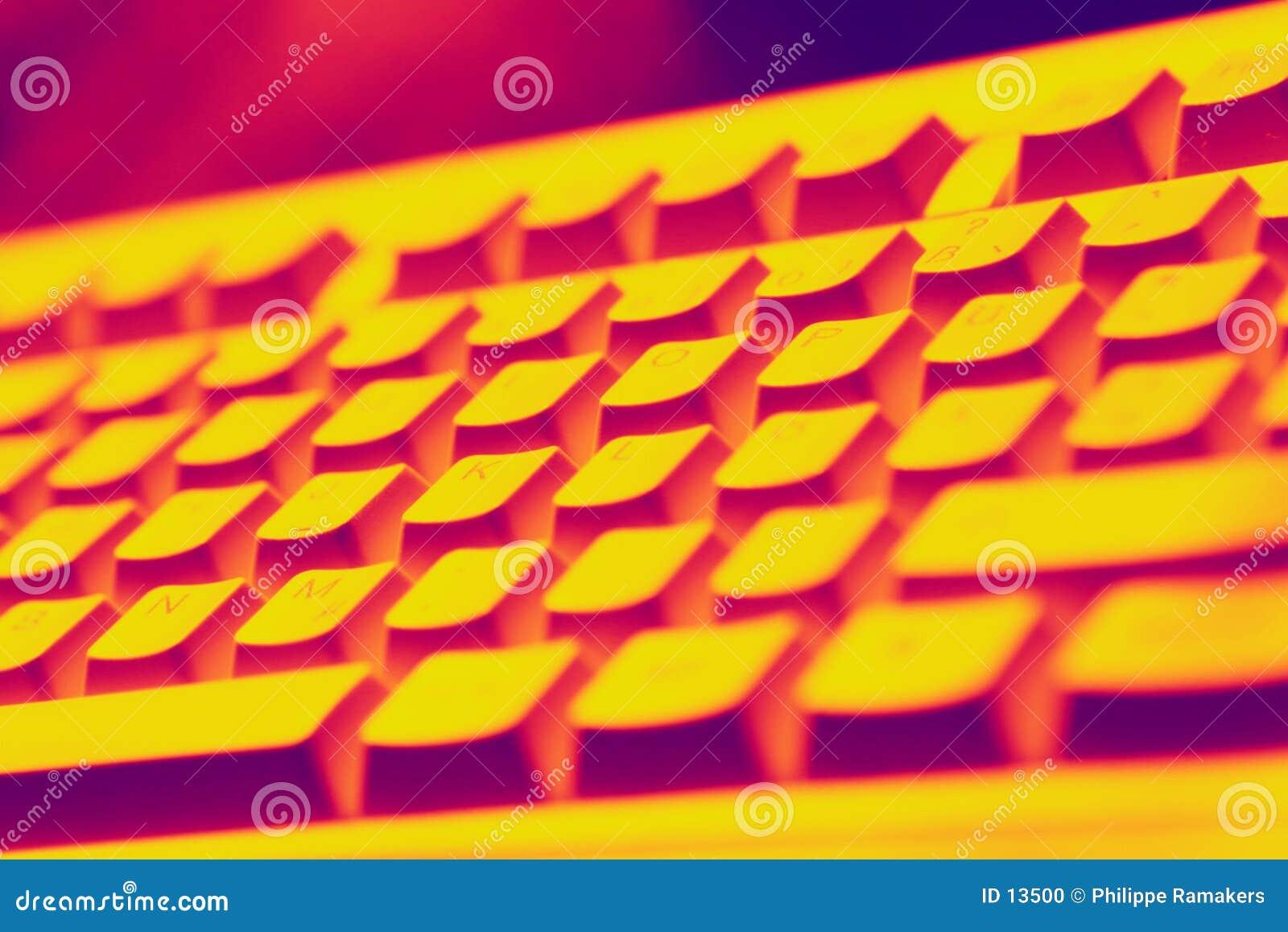 Visão do teclado