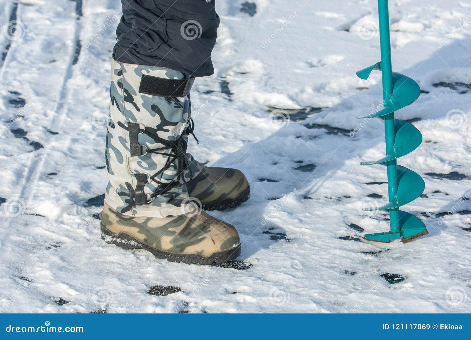 Vis de glace pour la pêche