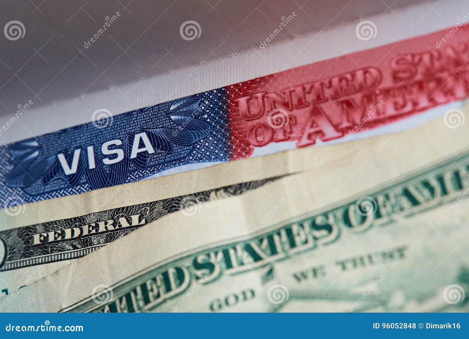 Visa américain dans le passeport