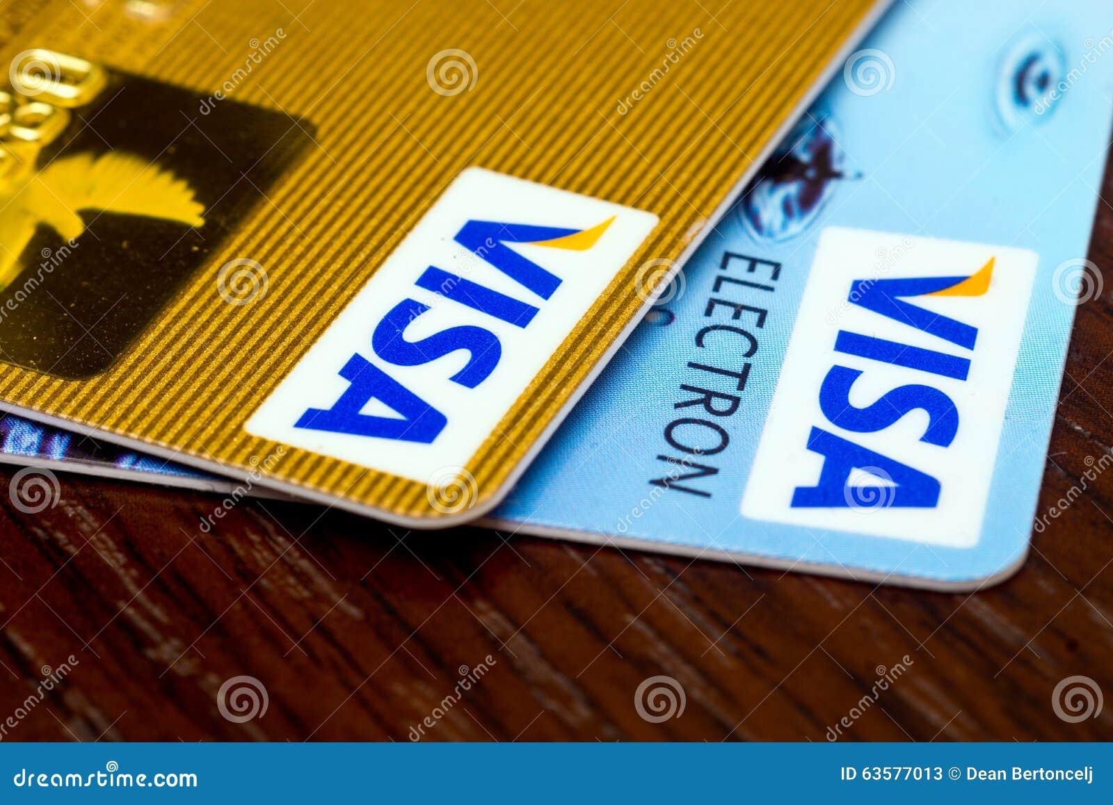 Visa credit cards editorial stock photo image of debt 63577013 visa credit cards editorial stock photo biocorpaavc Choice Image
