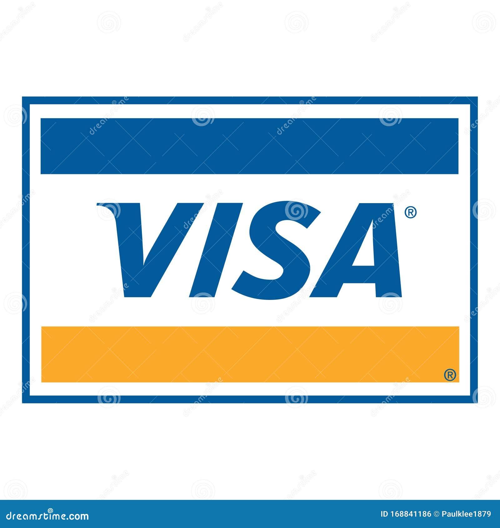 Visa-Logo Auf Weißem Hintergrund Redaktionelles Foto