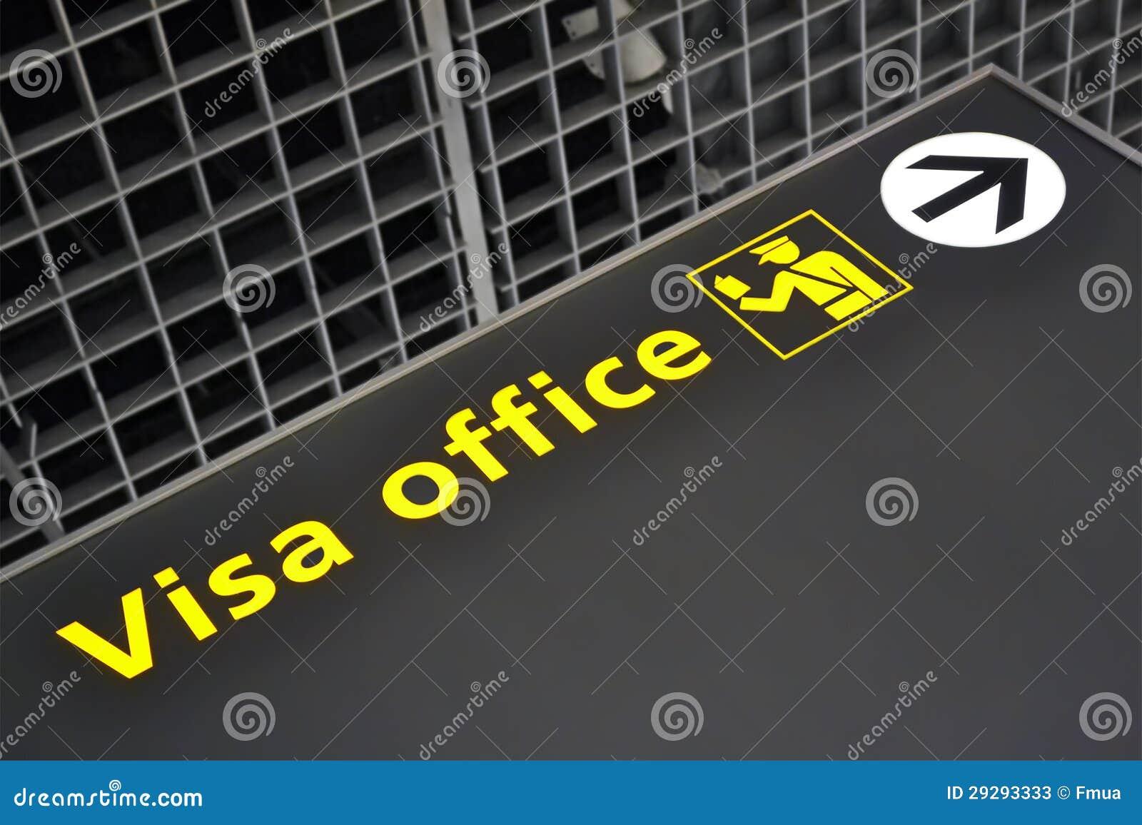 Visa office direction sign airport travel diversity stock image royalty free stock photo biocorpaavc Choice Image
