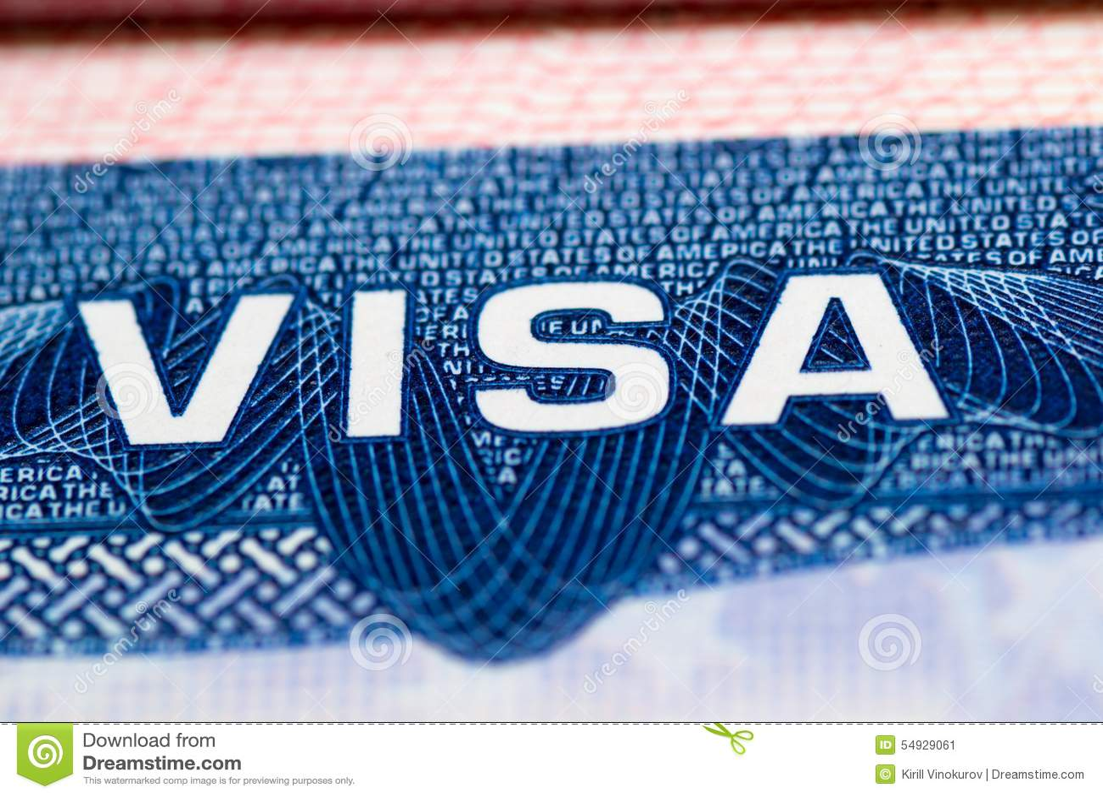 Visa Passport Stock Image Image Of Symbol White Identity 54929061
