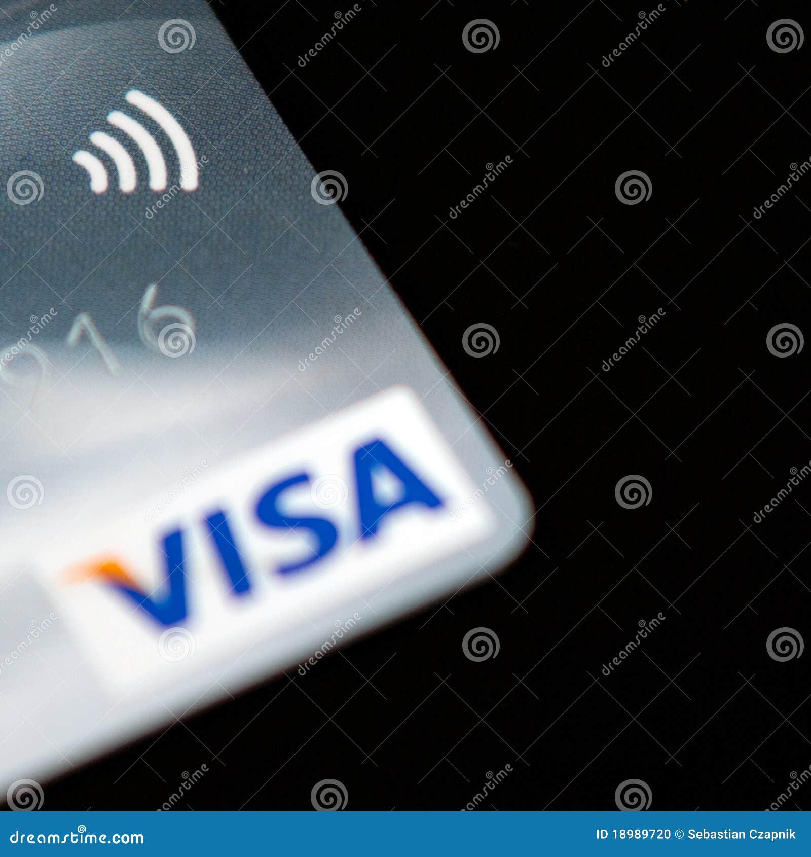 Visa Paywave de la tarjeta de crédito