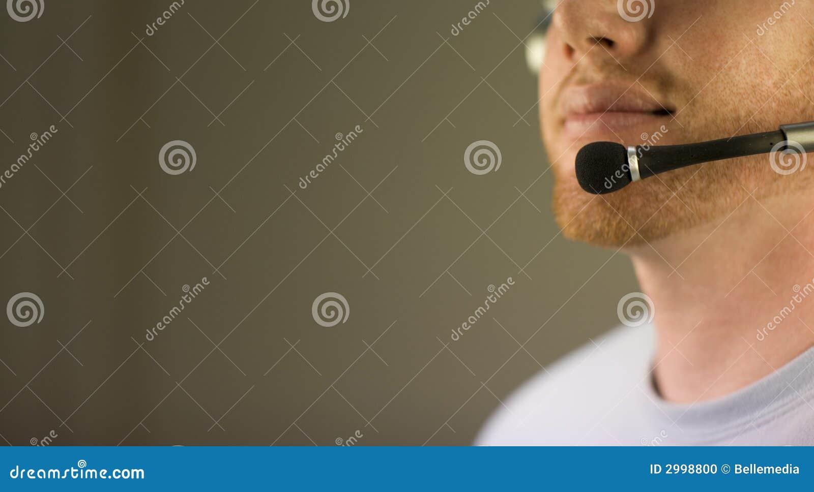 Visage avec l écouteur
