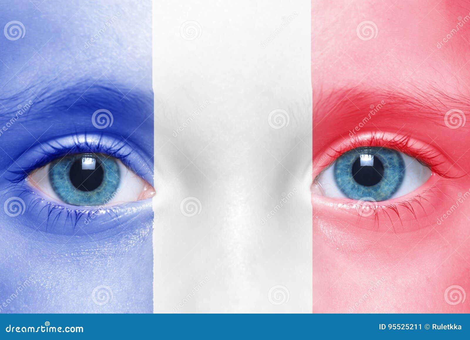 Visage avec le drapeau français