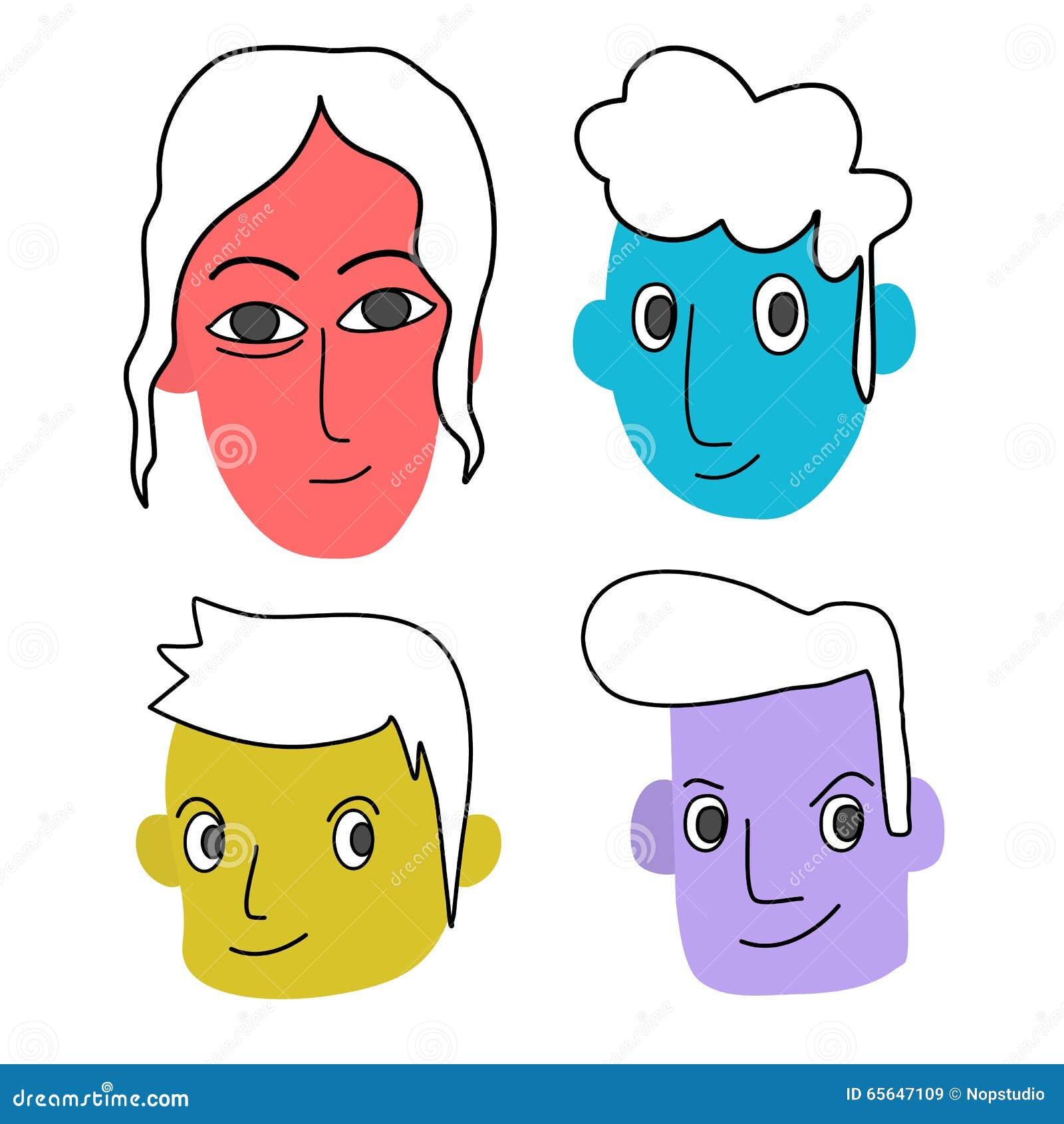 Visage coloré d humain