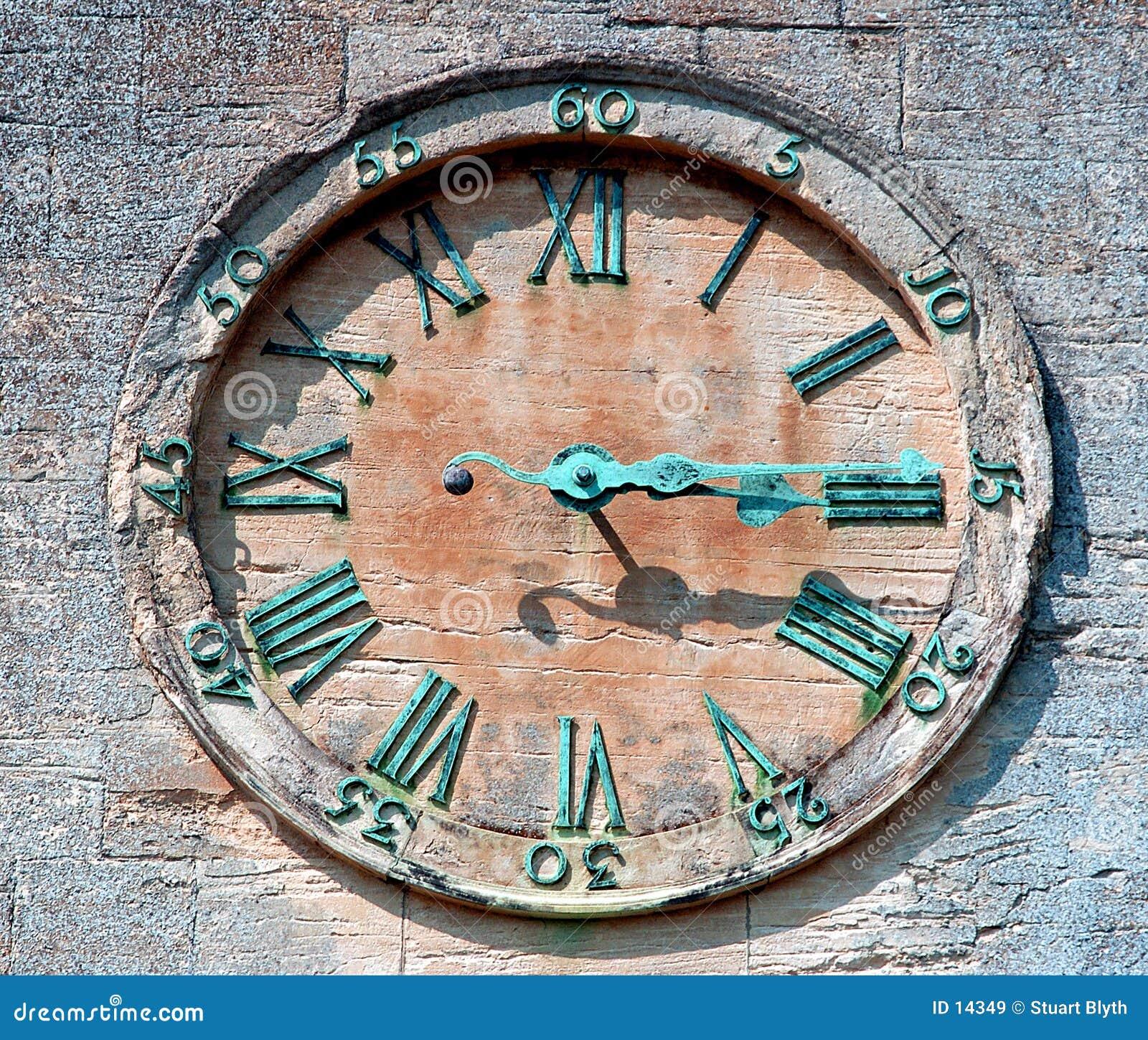 Visage d horloge