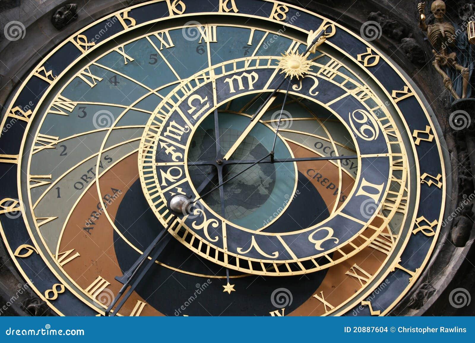 Visage d horloge de Prague