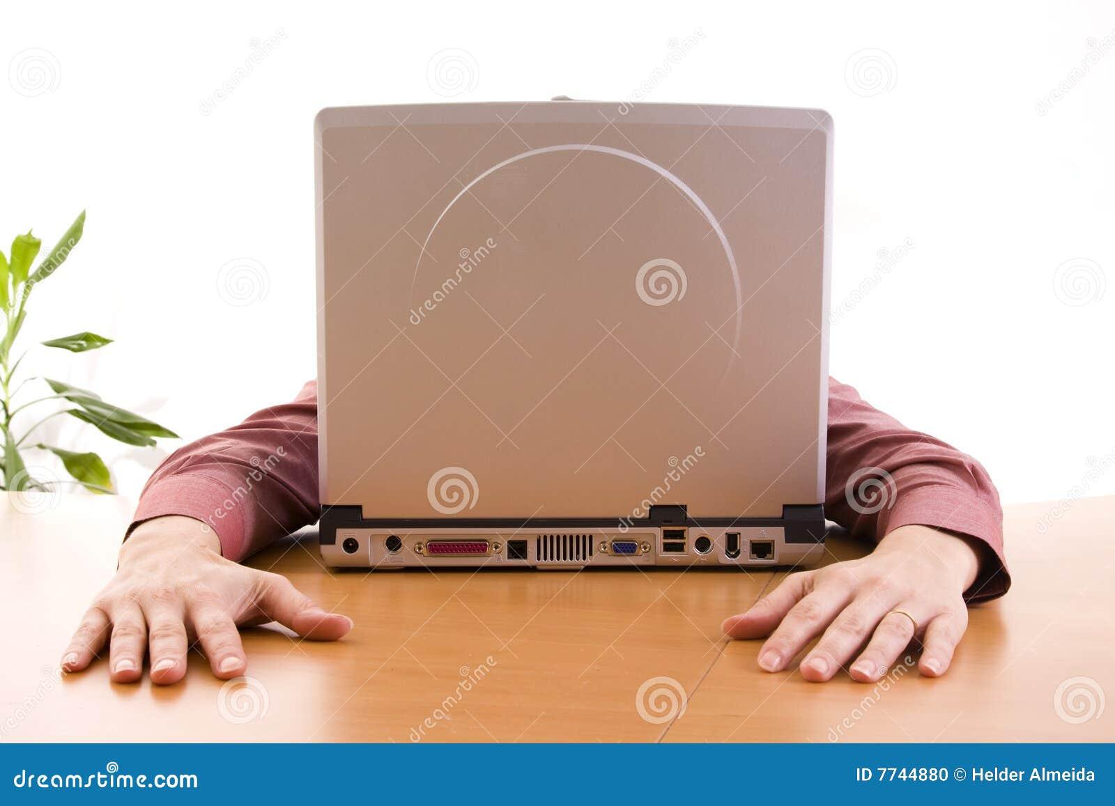 Visage d ordinateur