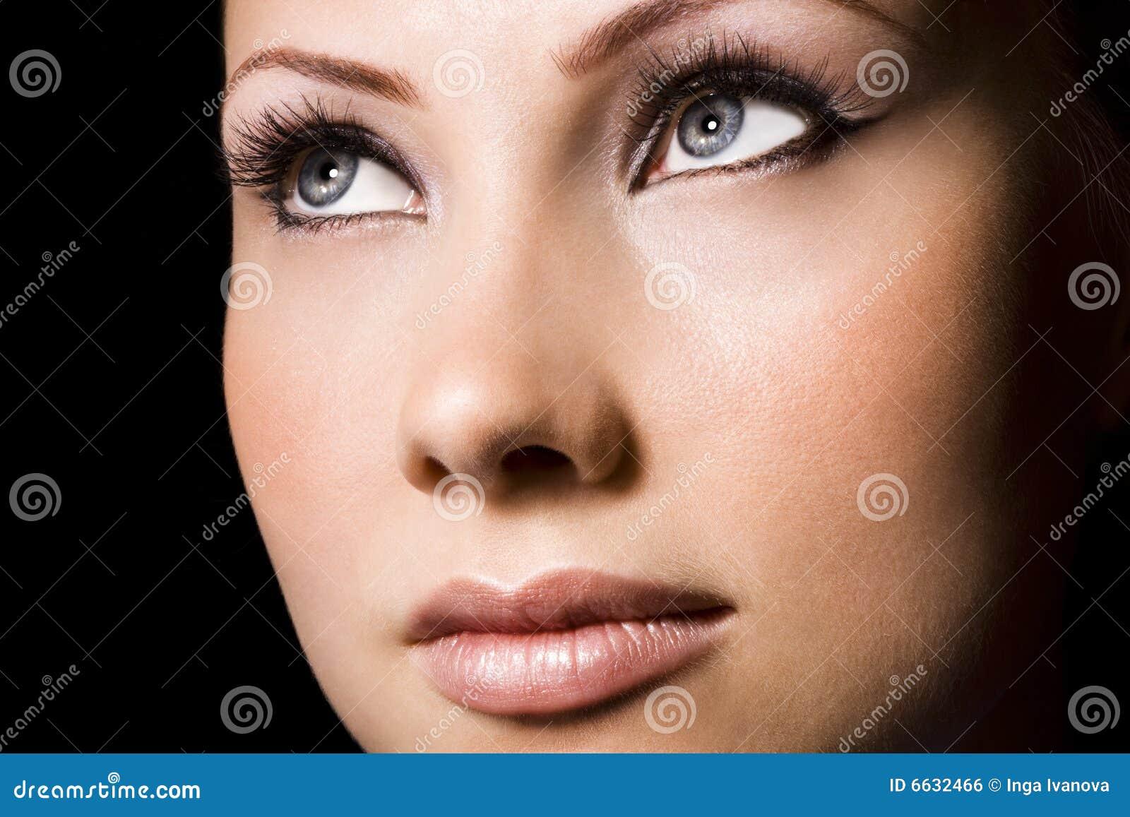 visage de femme photo stock image du renivellement charme 6632466. Black Bedroom Furniture Sets. Home Design Ideas
