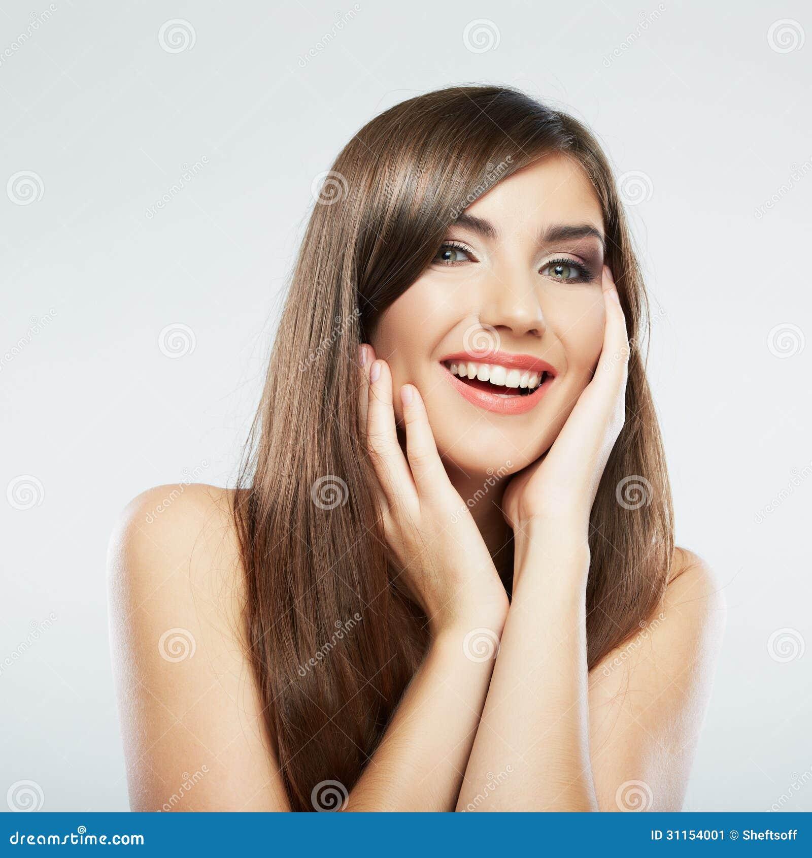 visage de femme avec de longs cheveux sur le fond blanc image stock image 31154001. Black Bedroom Furniture Sets. Home Design Ideas