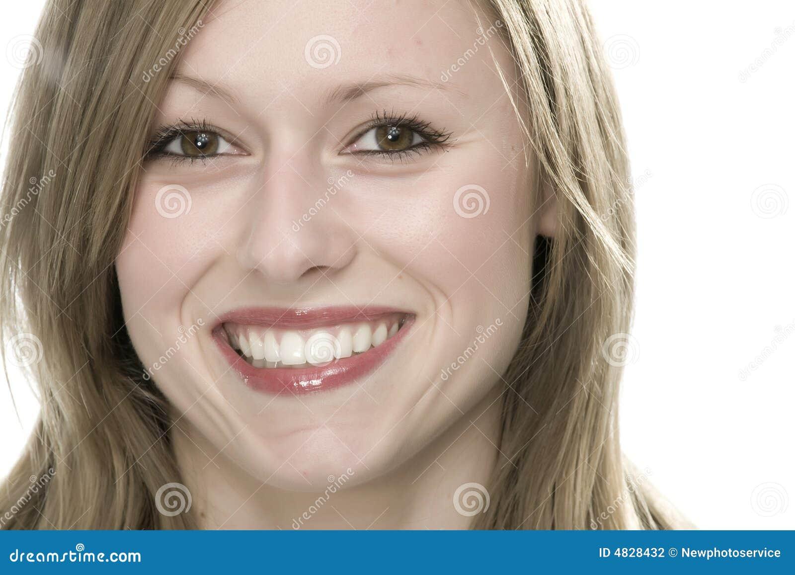 visage de jeune femme photo stock image du bouche joie 4828432. Black Bedroom Furniture Sets. Home Design Ideas