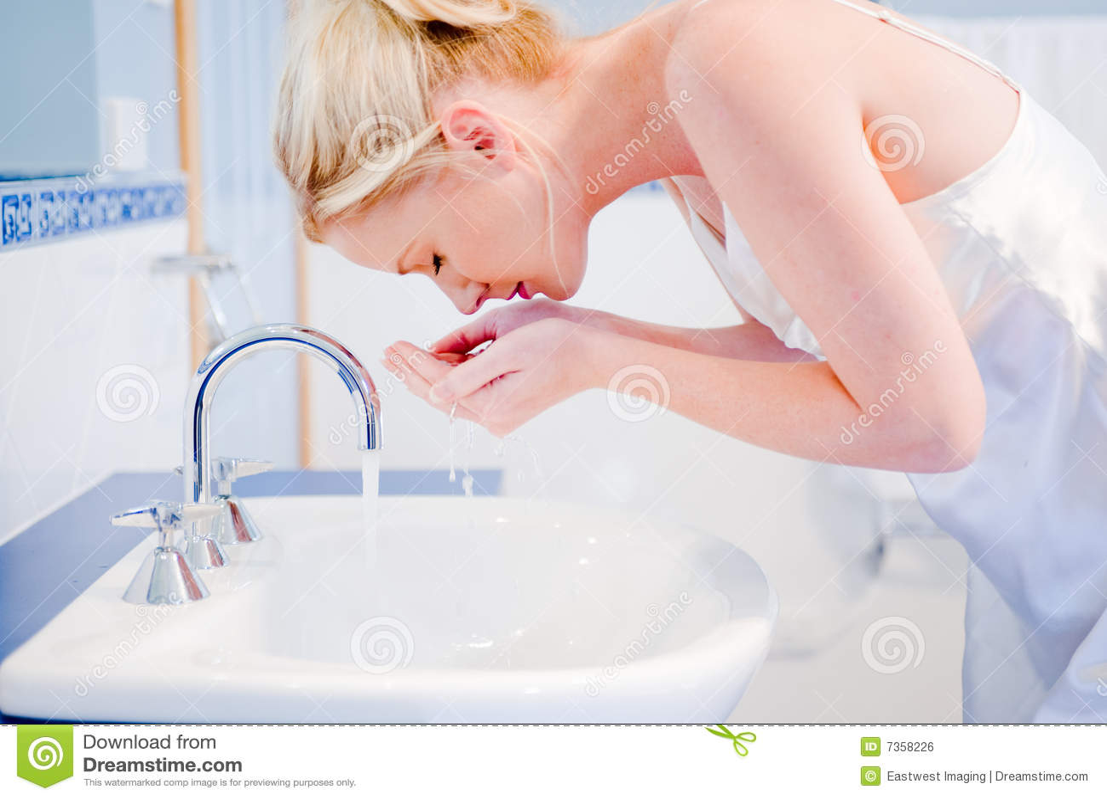 Visage de lavage