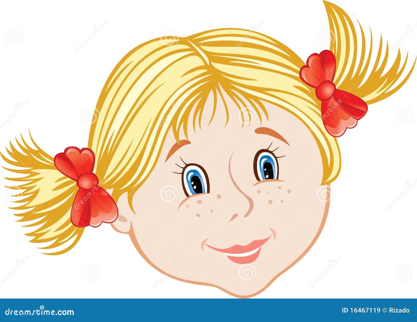 visage de petite fille illustration de vecteur illustration du people 16467119. Black Bedroom Furniture Sets. Home Design Ideas