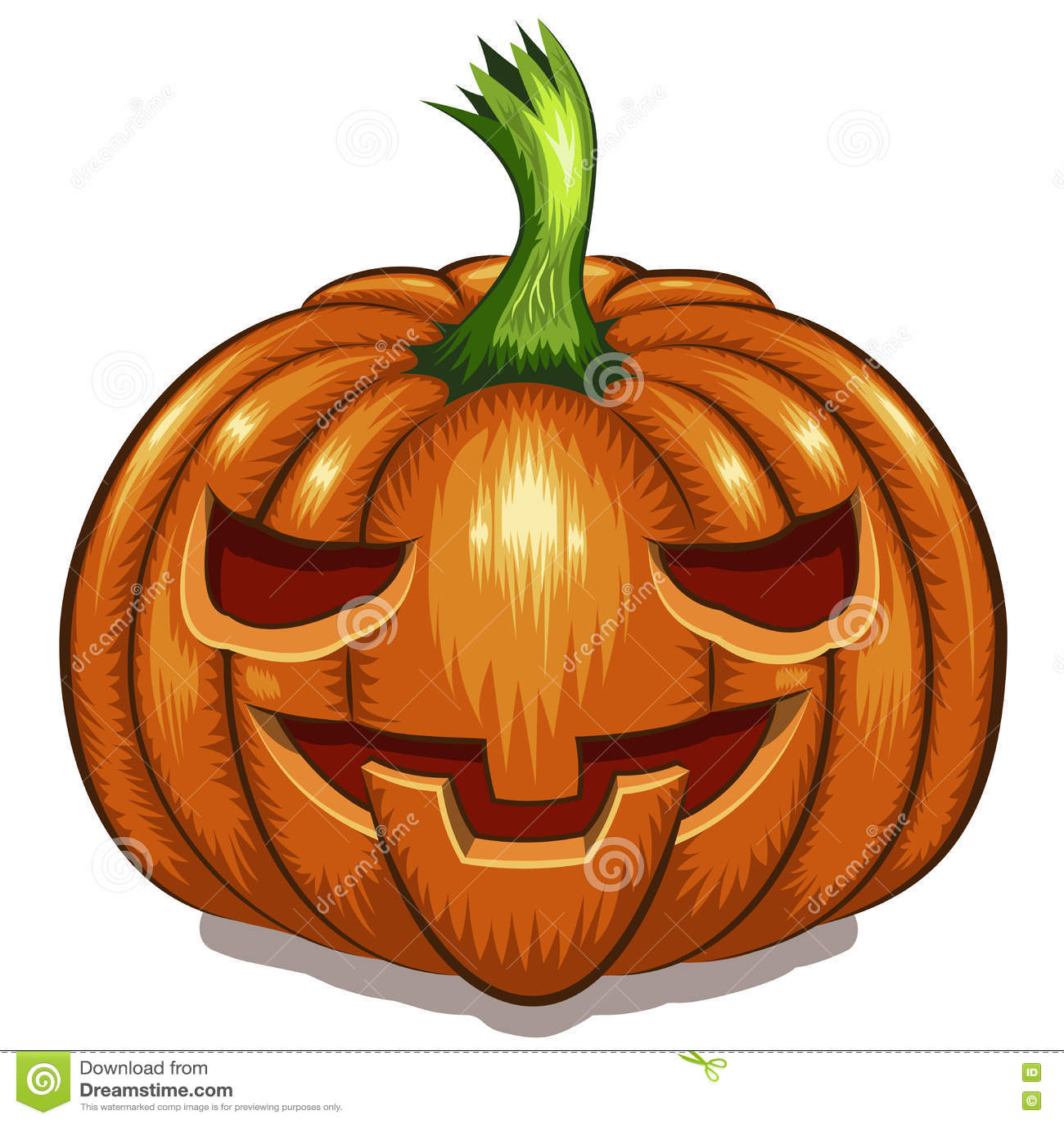 Visage de potiron de Halloween