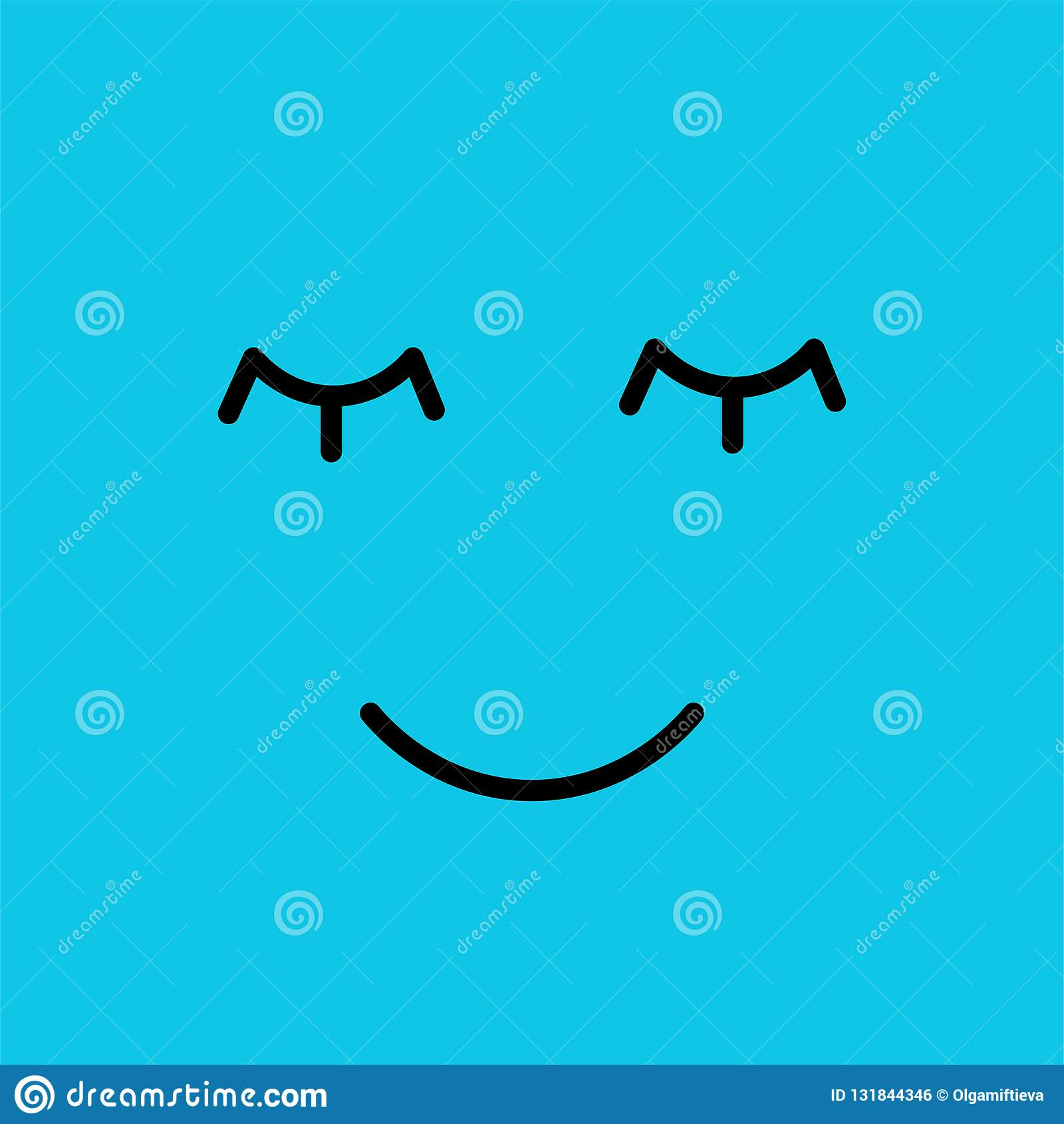 Visage drôle d emoji d émotion de sommeil Pictogrammes simples d émoticônes Écran protecteur