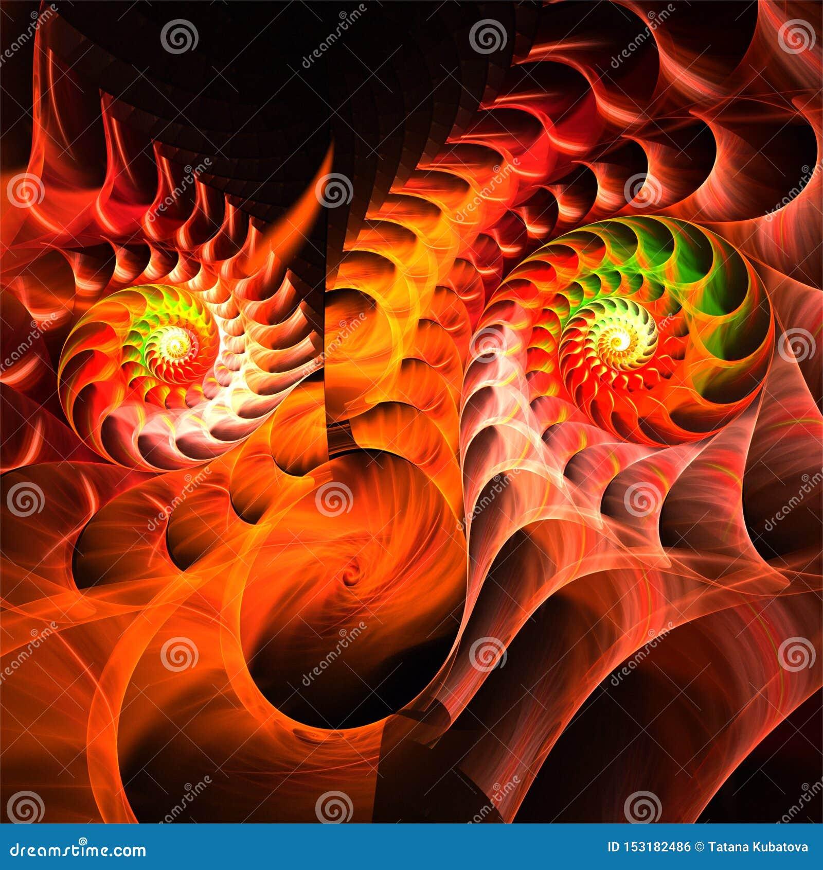 Visage fantastique fou d art abstrait de fractale