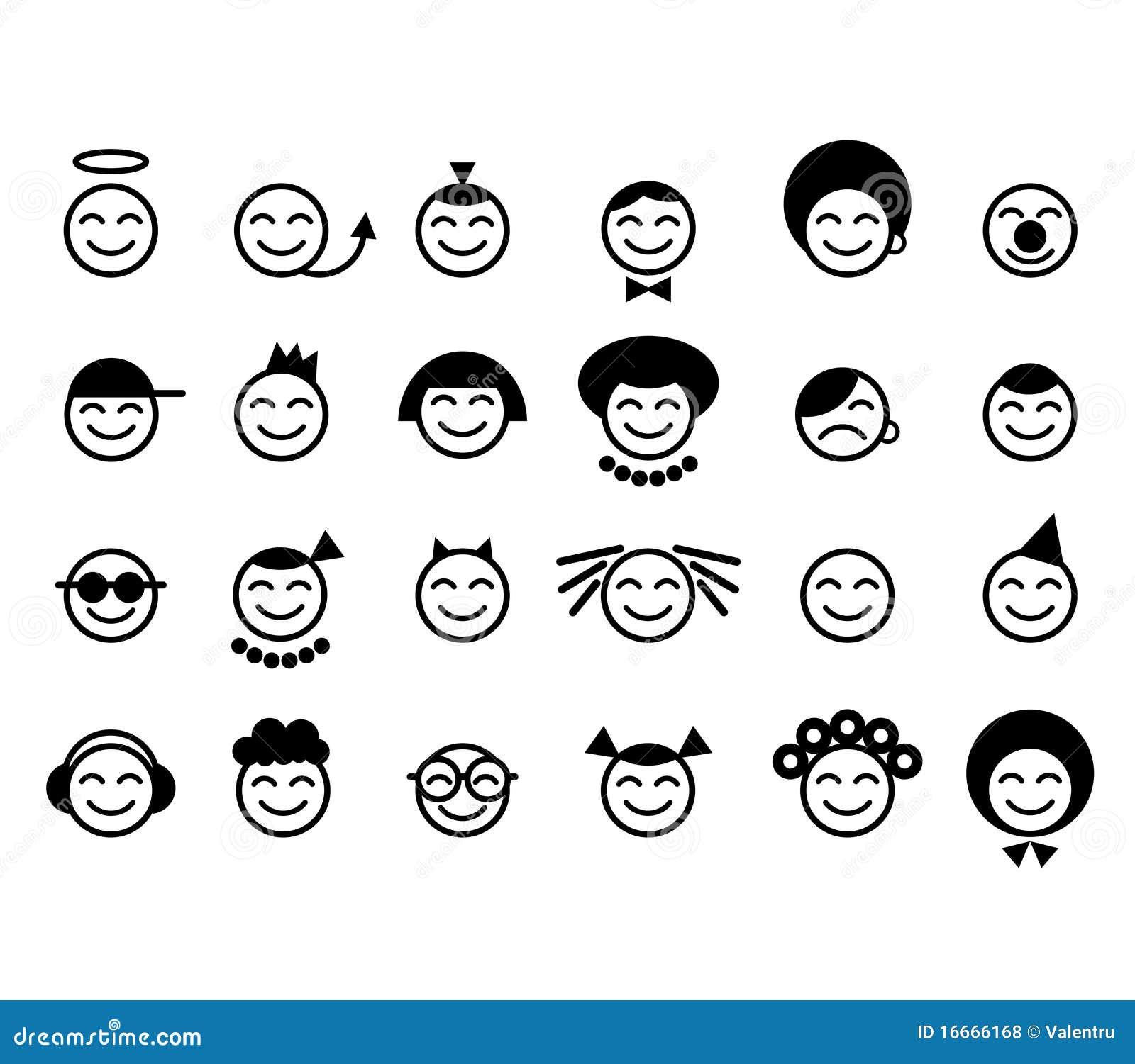 Visage heureux de smiley photos libres de droits image 16666168 - Smiley en noir et blanc ...