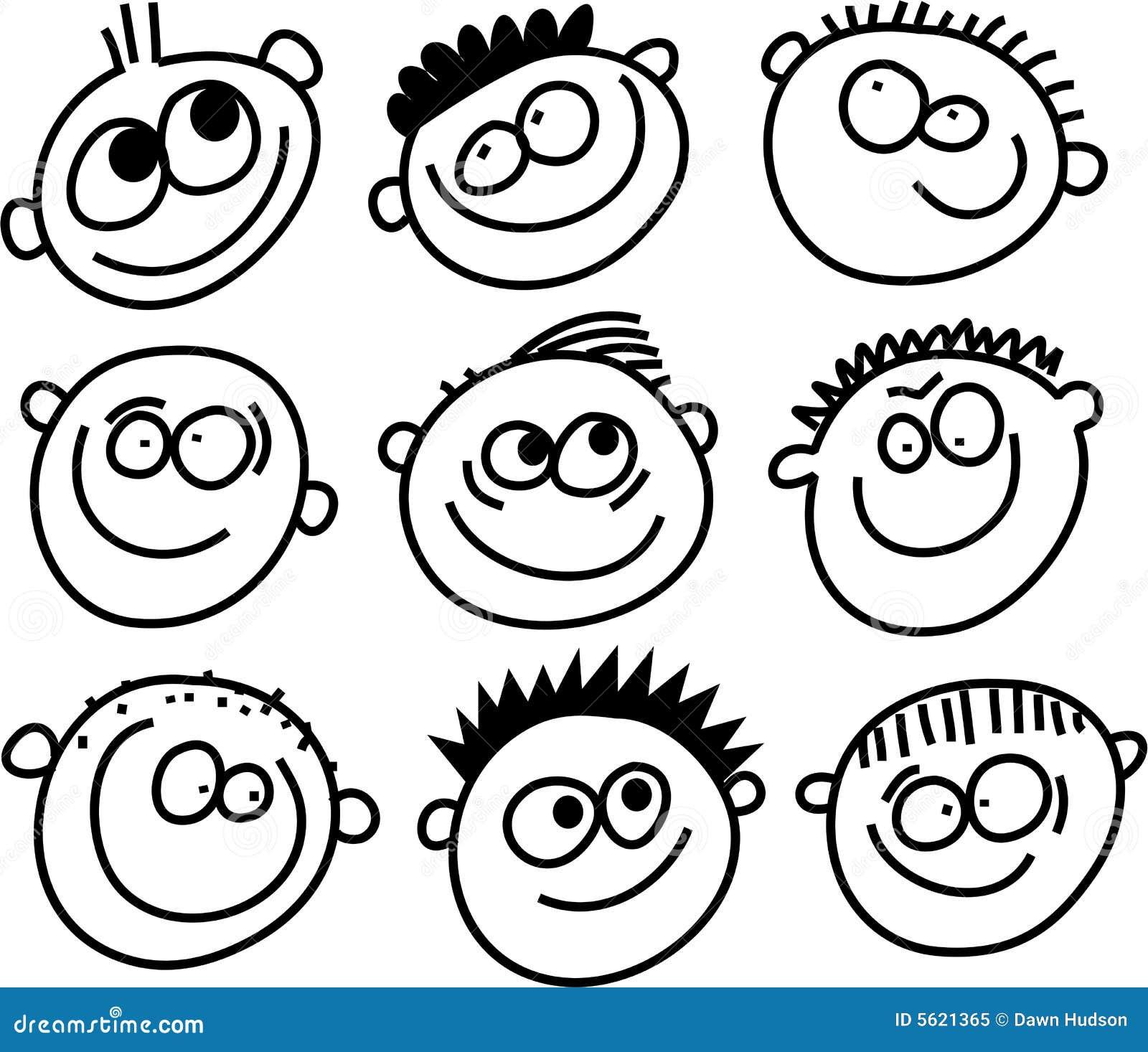 Visages de sourire