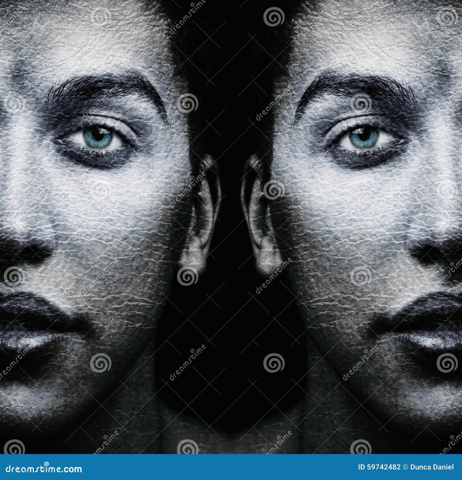 Visages des jumeaux masculins