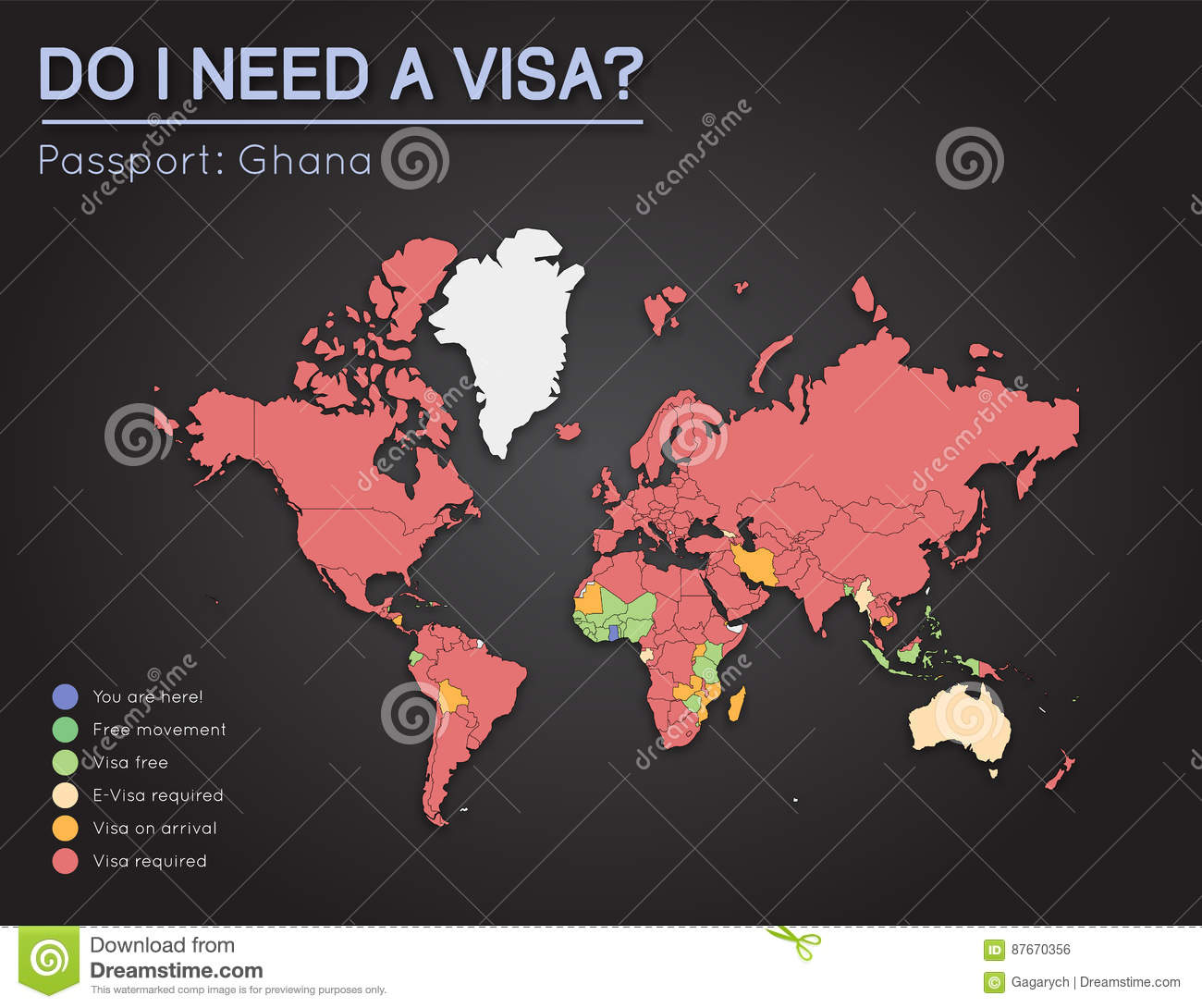 Visas information for republic of ghana passport stock vector download comp gumiabroncs Image collections