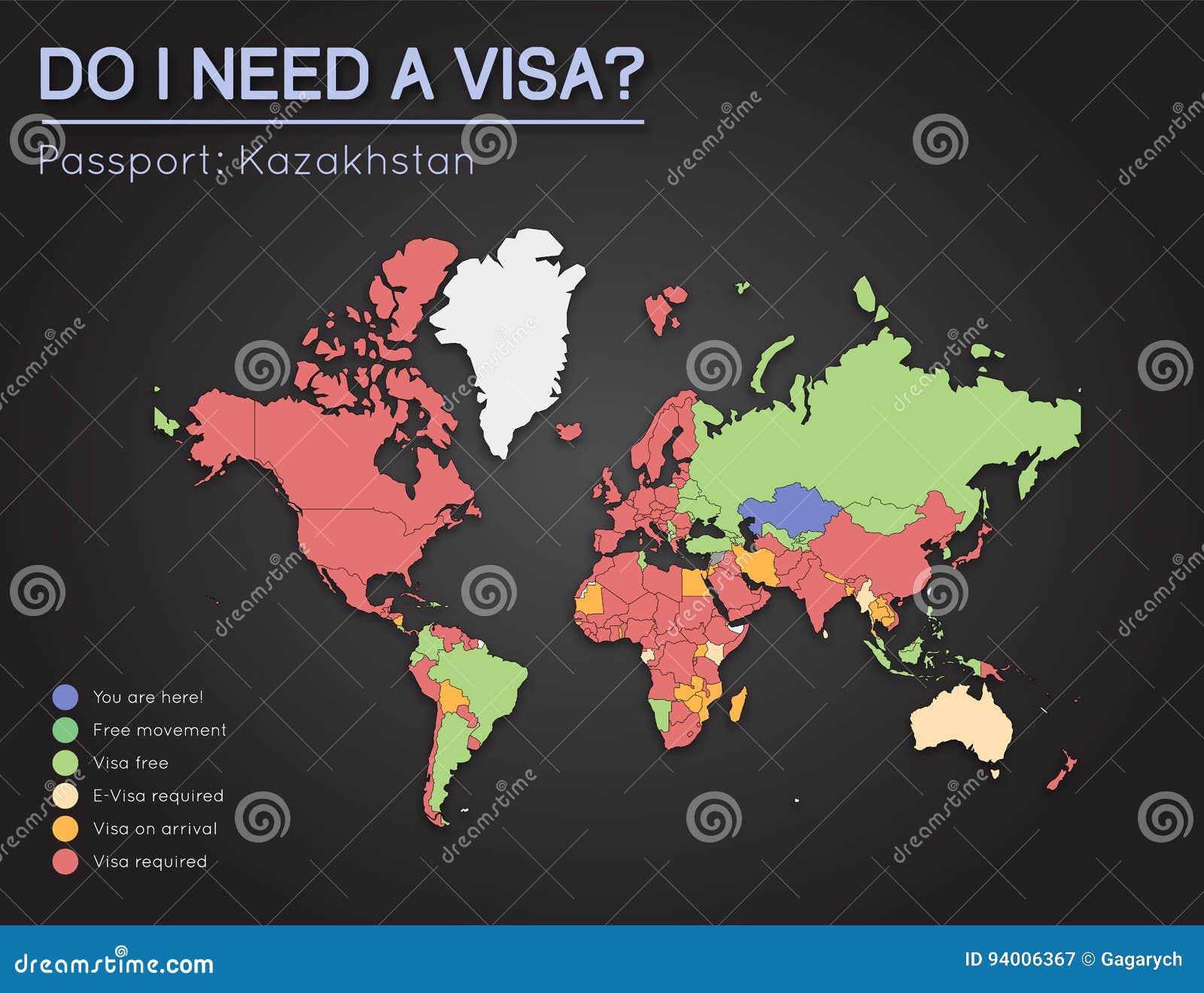 Visas information for republic of kazakhstan stock vector download visas information for republic of kazakhstan stock vector illustration of around journey gumiabroncs Images