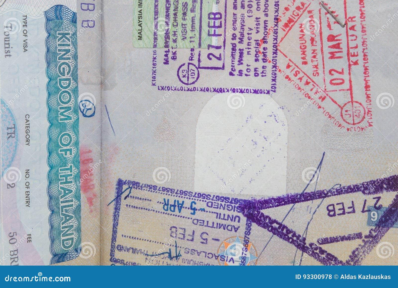 Visas in passport