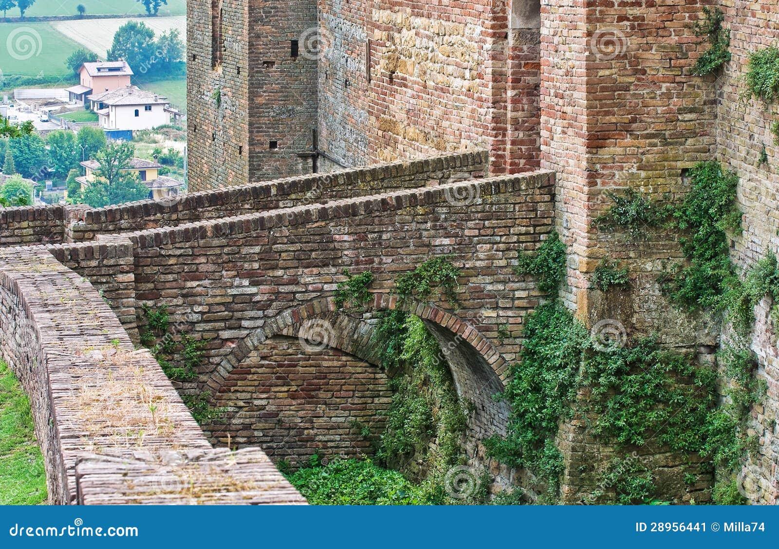 Visconti kasztel. castell Arquato. emilia. Włochy.